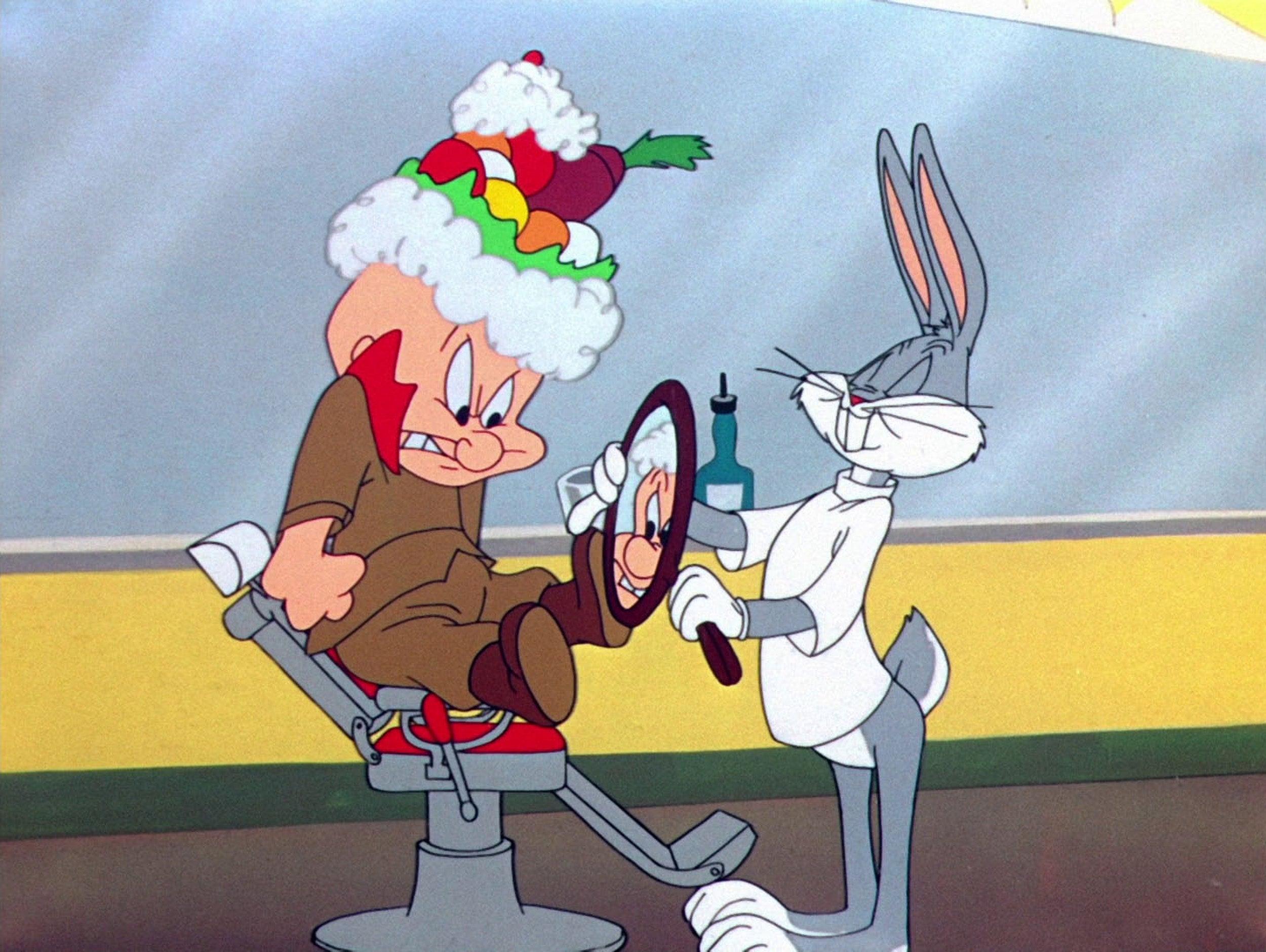 "Scene from ""Bugs Bunny."""
