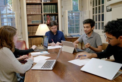 The Harvard debate team.