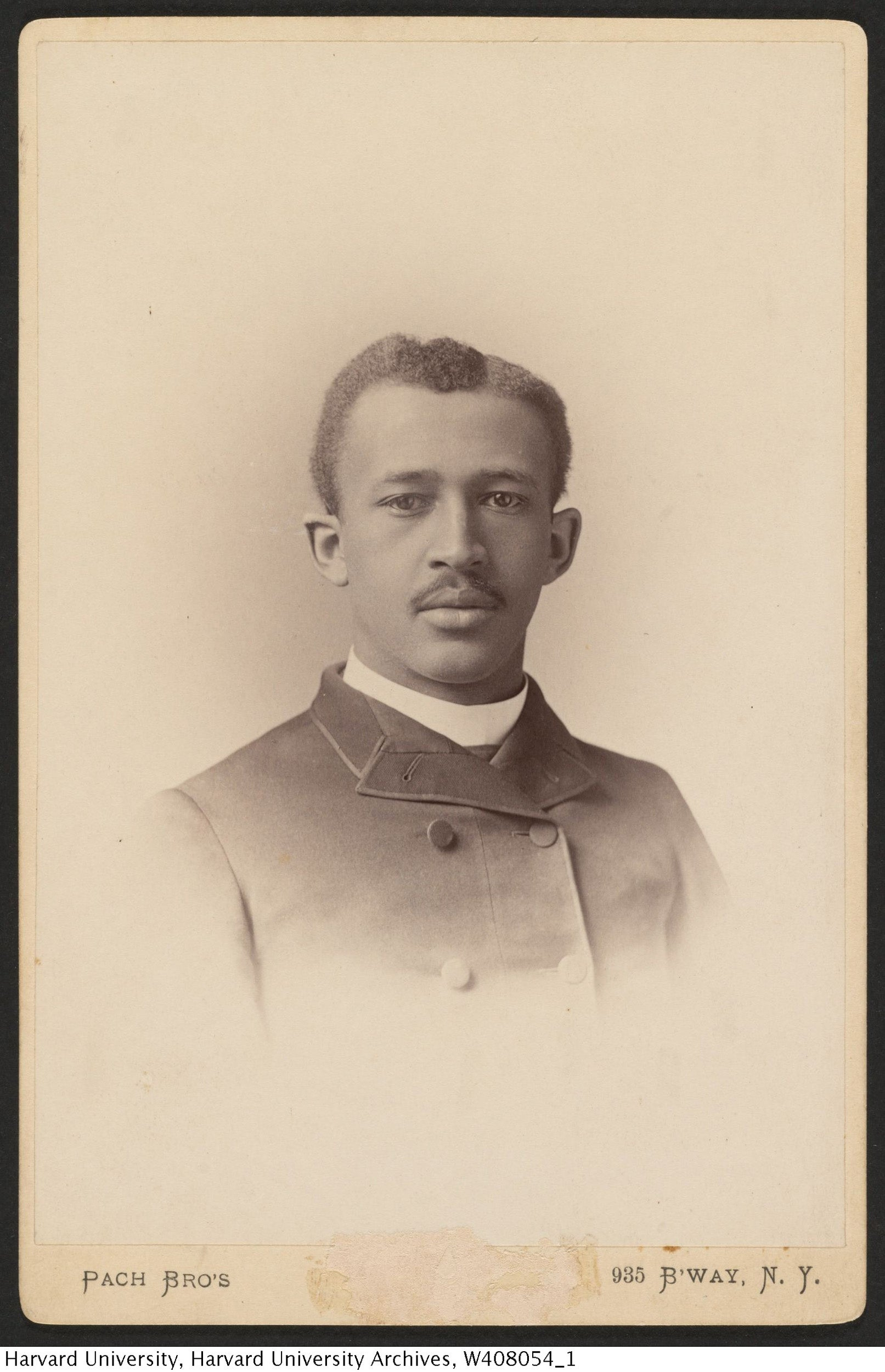 W. E. B. Du Bois photograph from the Harvard College Class of 1890 Class Book, 1890.