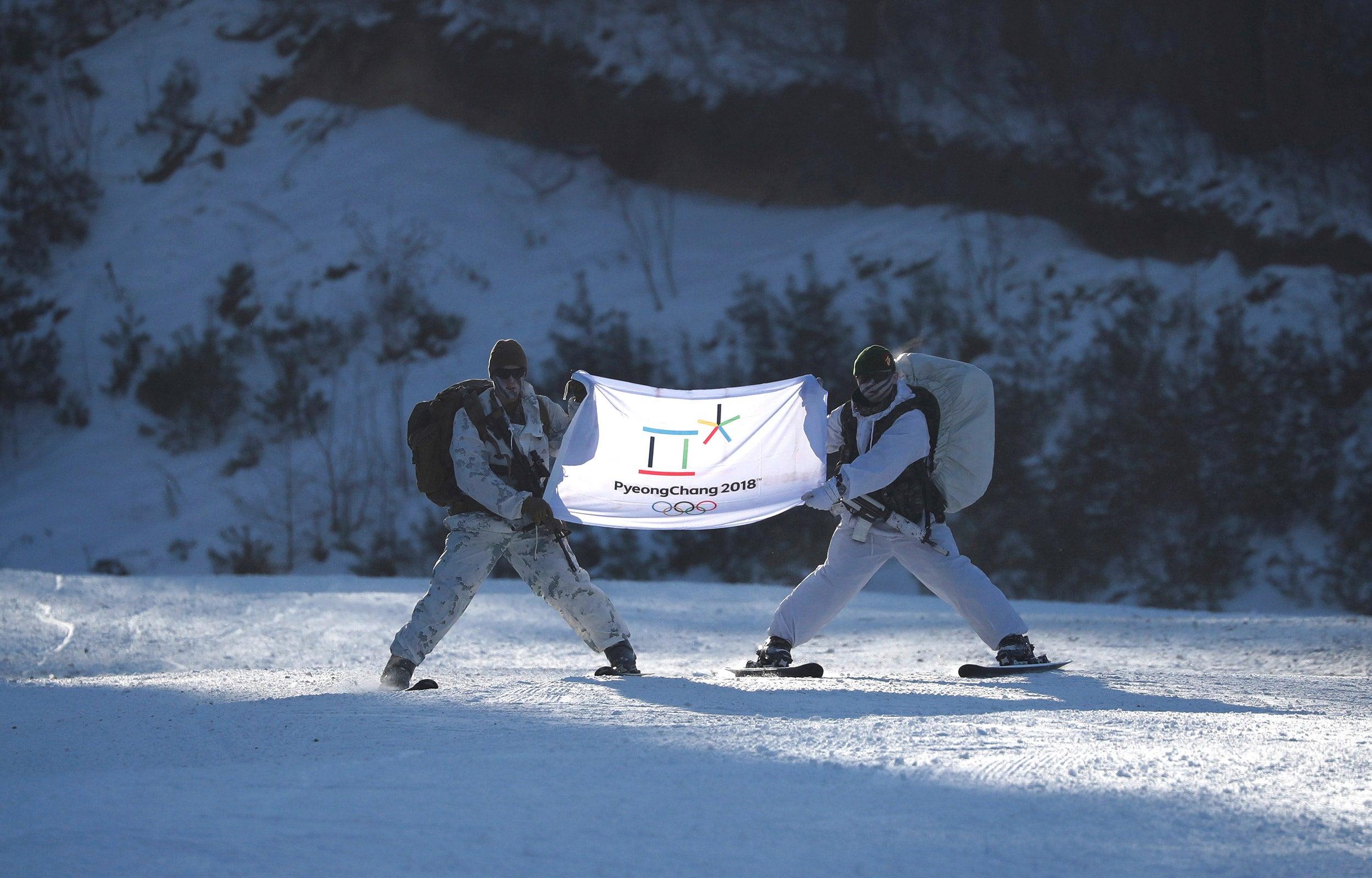 Olympic banner South Korea