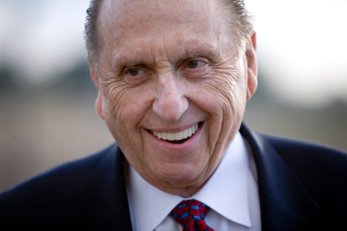 """""""By lowering the age of service for female missionaries [Thomas Monson] fundamentally transformed the gendered dynamics of Mormon missionary work,"""" said Professor David Holland."""
