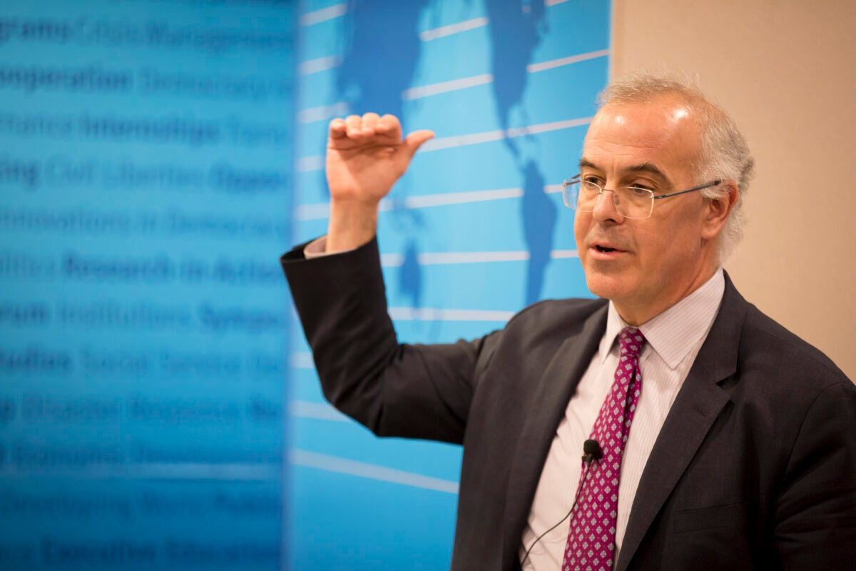 "In an Ash Center talk about tribalism and community, New York Times columnist David Brooks diagnosed the U.S. as needing to develop a better understanding of ""why living in a democratic society is a better way of life."""