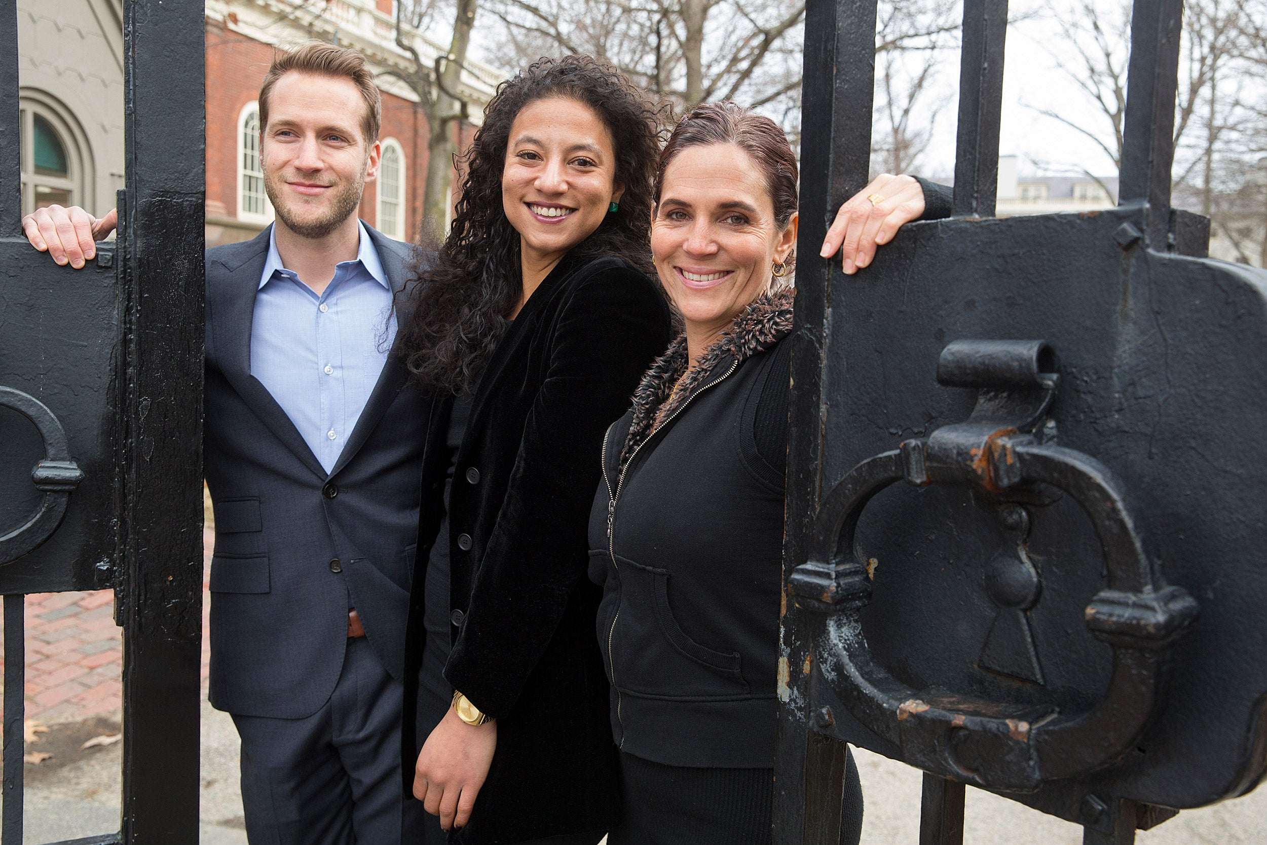 Garrett Felber (l to r), Elizabeth Hinton, and Kaia Stern