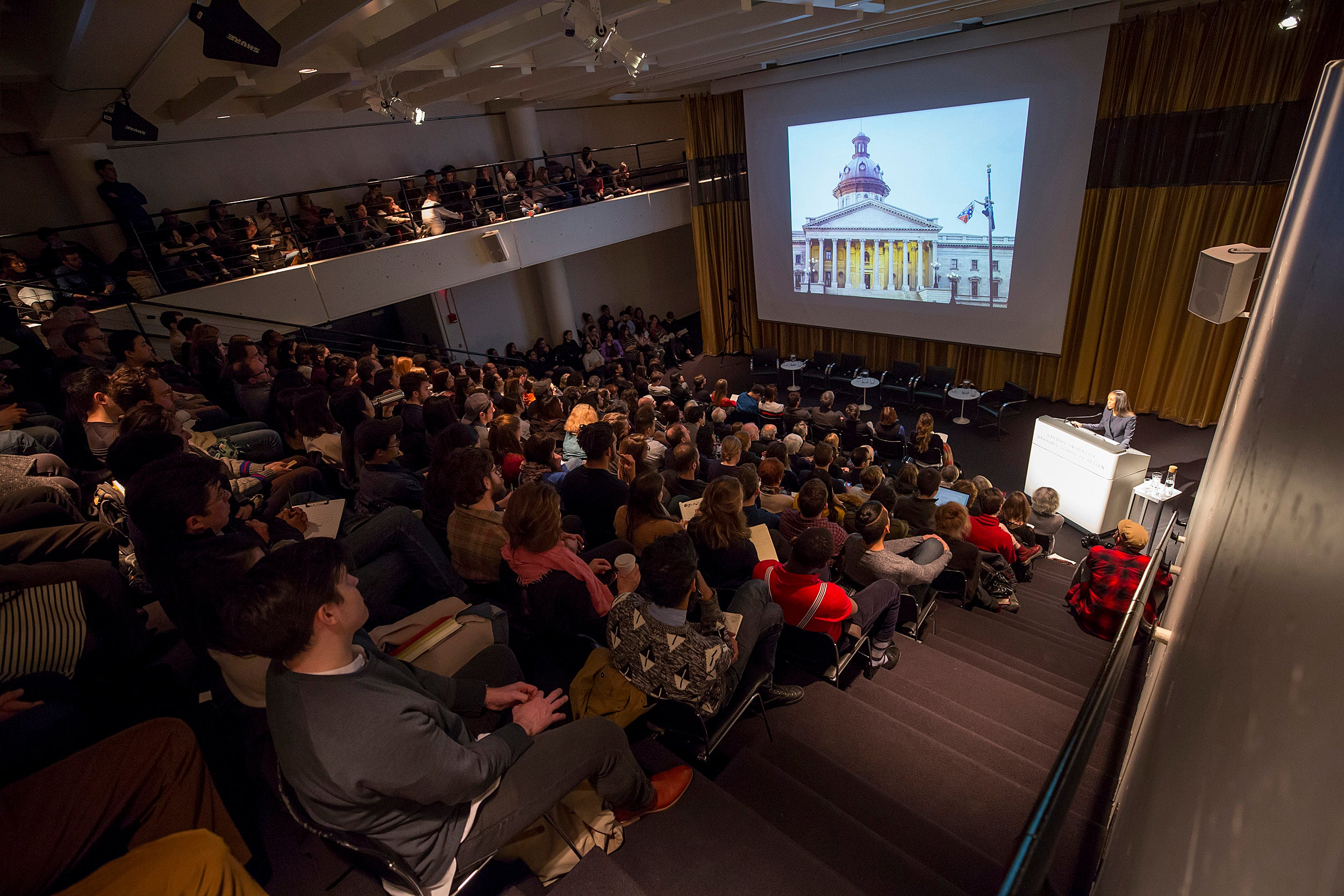Panel discussion at Harvard University's Graduate School on monuments.