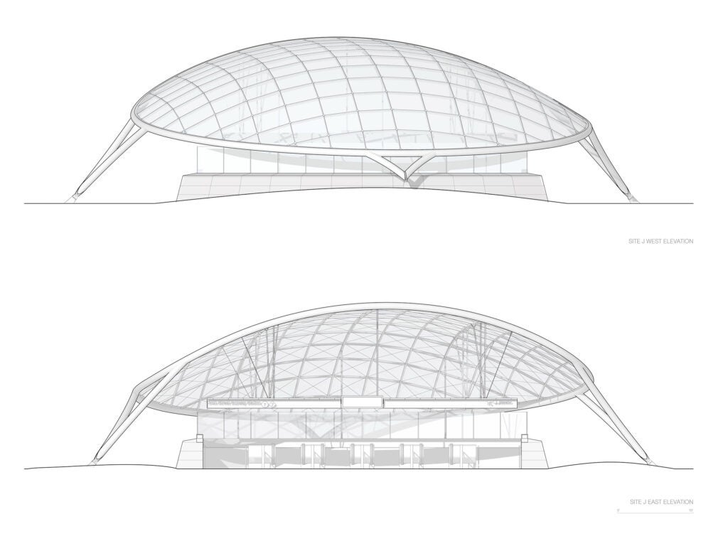 Hudson Park subway canopy schematic.