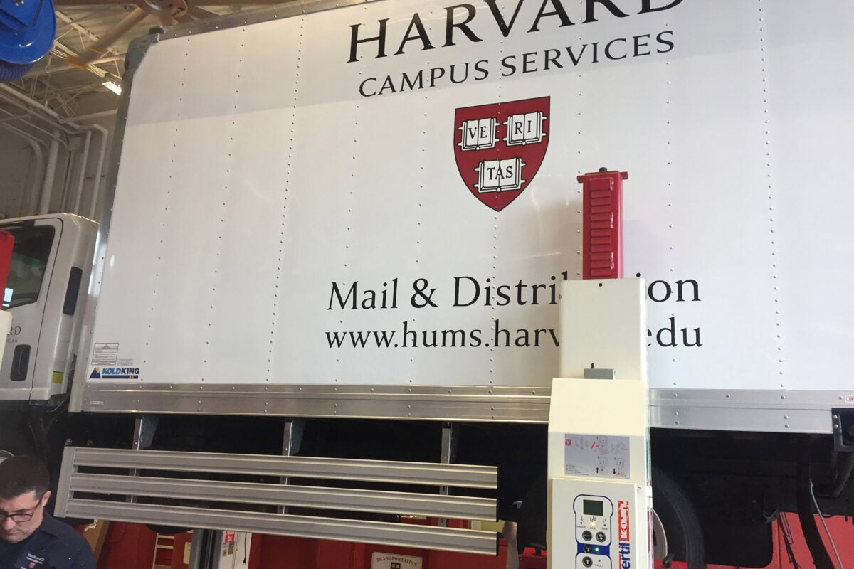 Side guards on Harvard truck