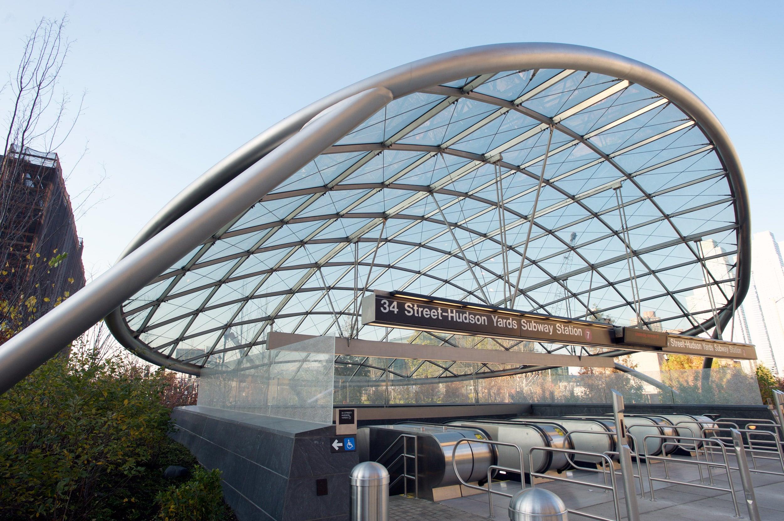 Hudson Park subway canopy.