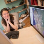 """Assistant Professor Marine Denolle is the co-author of a new study that uses computer-learning algorithms to detect tiny earthquakes hidden in seismic """"noise,"""" like human activity, that could be used for real-time detection and early warnings."""