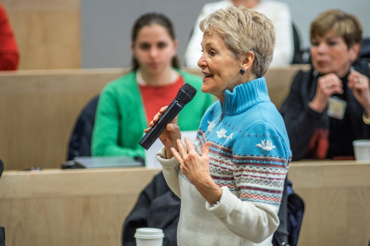 """Harvard Kennedy School's Swanee Hunt discusses the lessons learned from the aftermath of the Rwandan genocide — key among them, empowering women — in advance of """"Women Rising, Here and Abroad,"""" her talk as the Lowell lecturer at Harvard Extension School."""