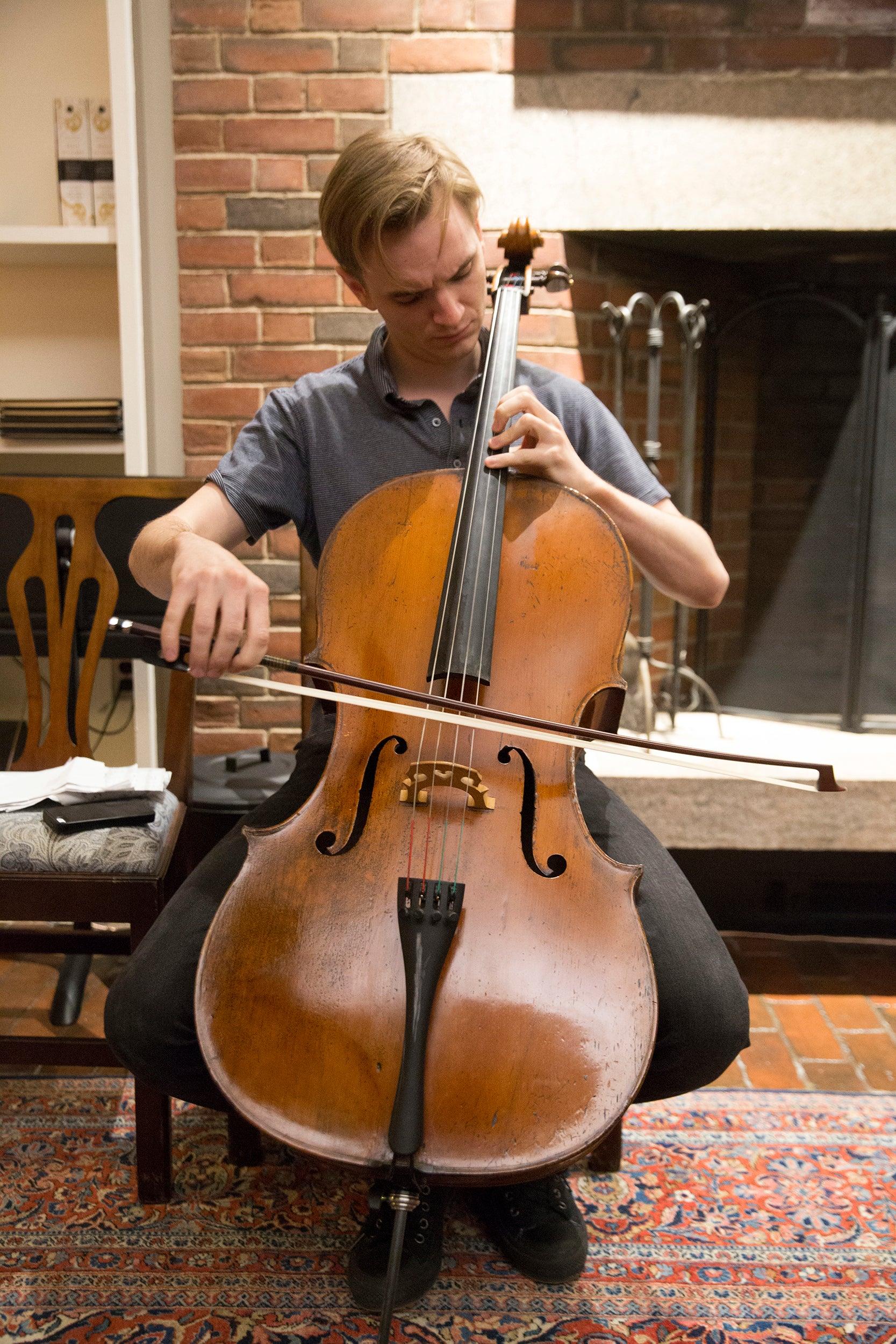 Cellist Coleman Itzkoff.