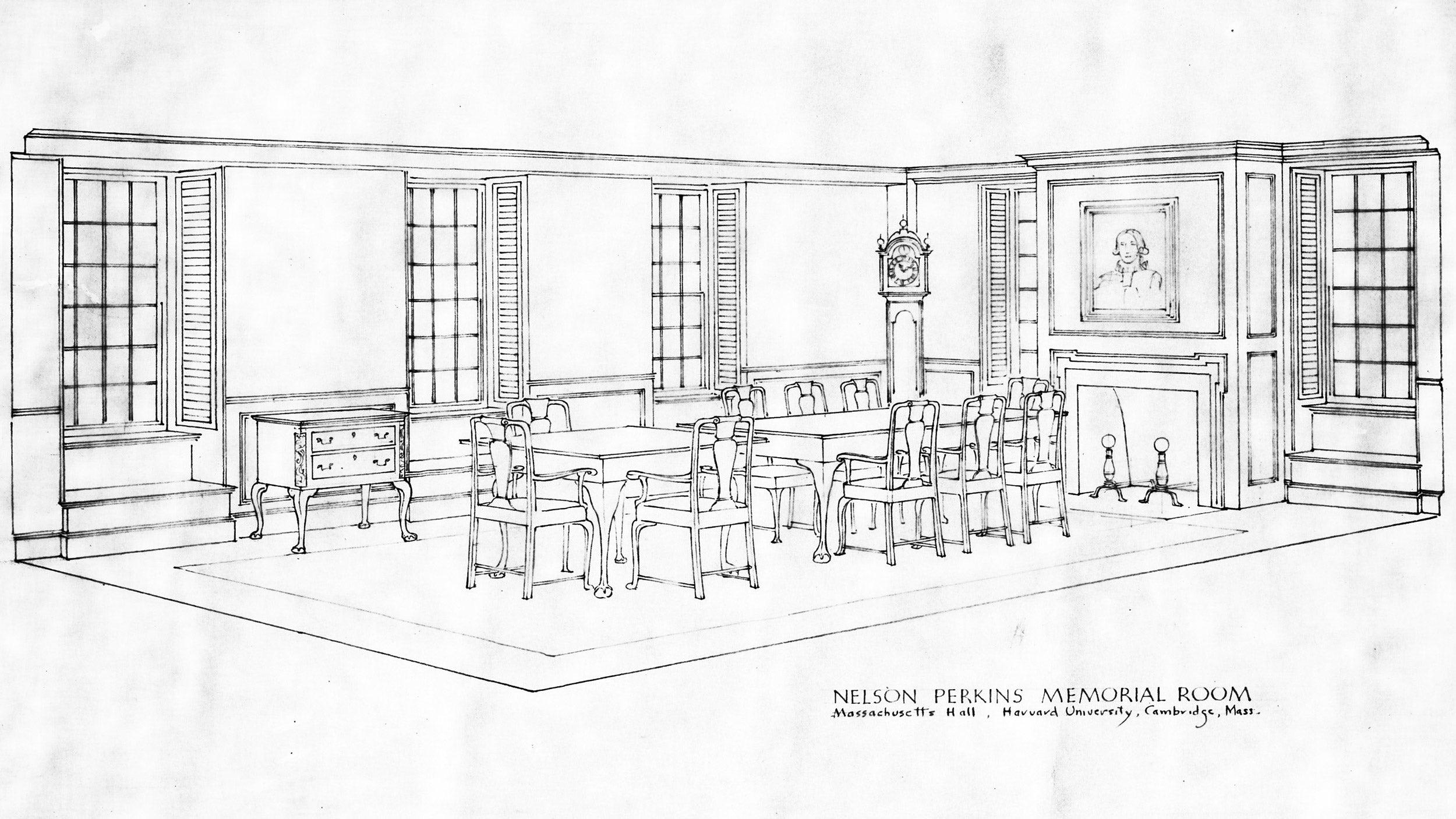 1939 schematic of Perkins Hall.