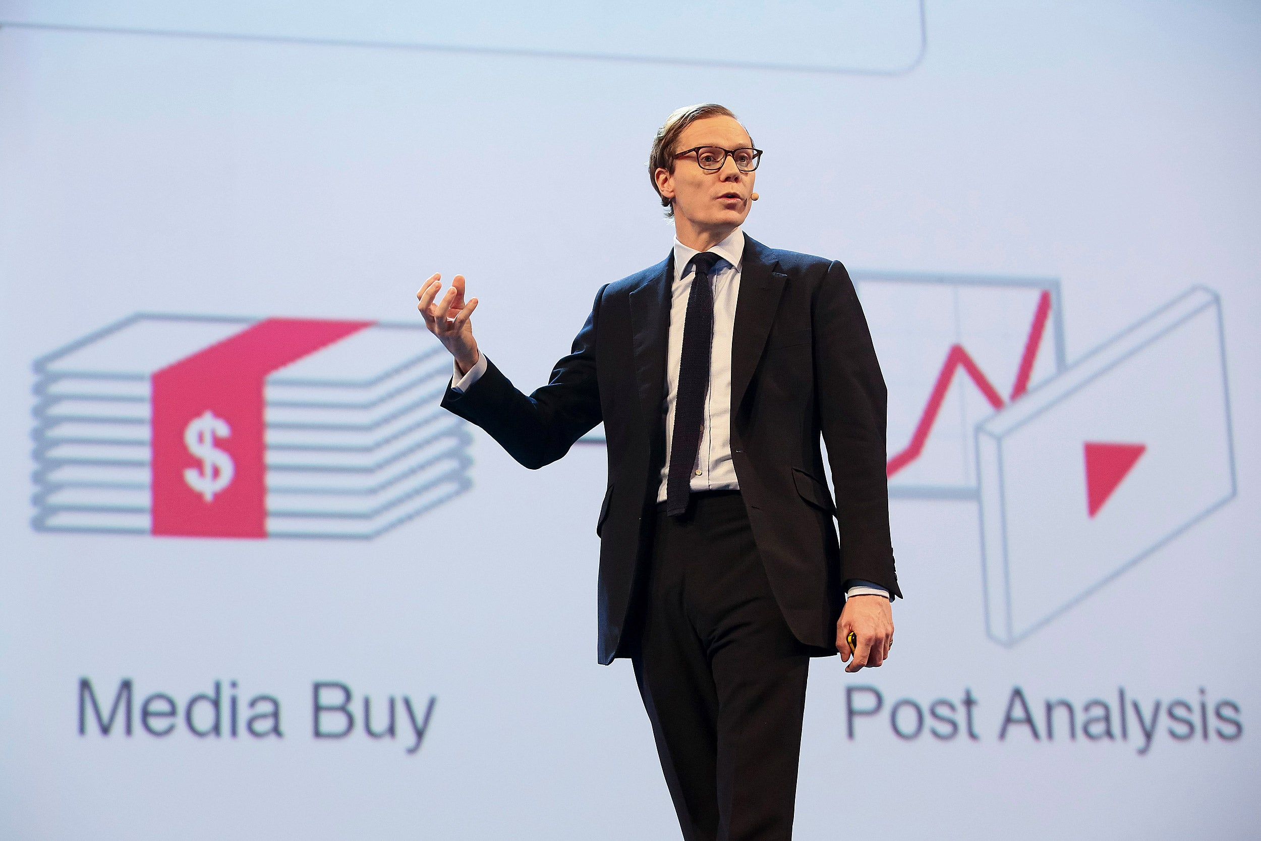 Cambridge Analytics CEO Alexander Nix (pictured) said his firm found a way to tailor political ads and messages on Facebook to millions of voters in the U.S., based on their fears and prejudices.