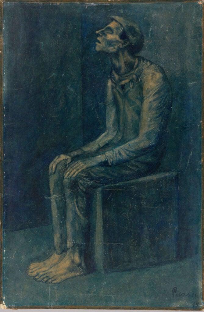 Pablo Ruiz Picasso, The Blind Man, 1903.