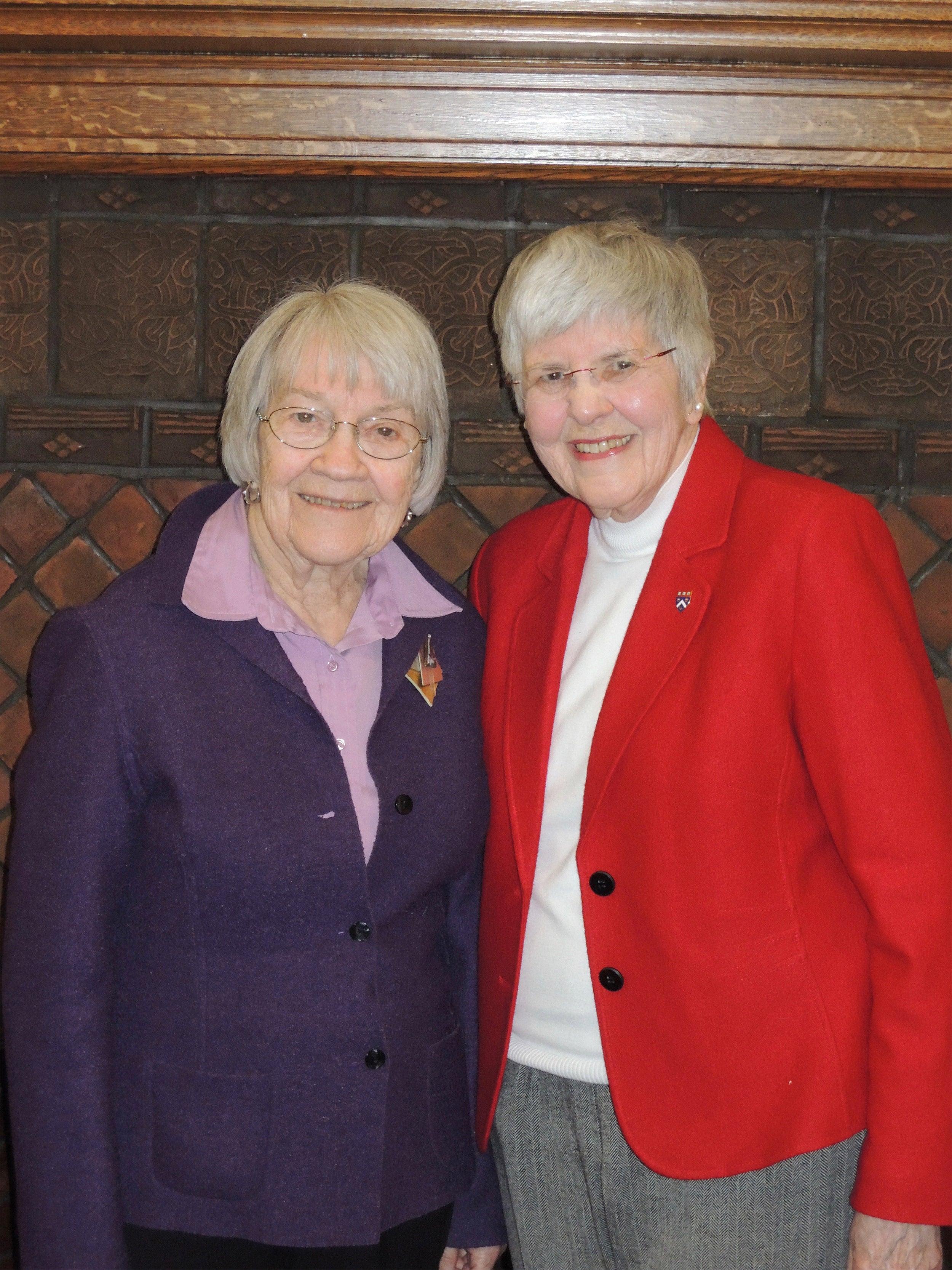 Two original members of the Harvard Extension Alumni