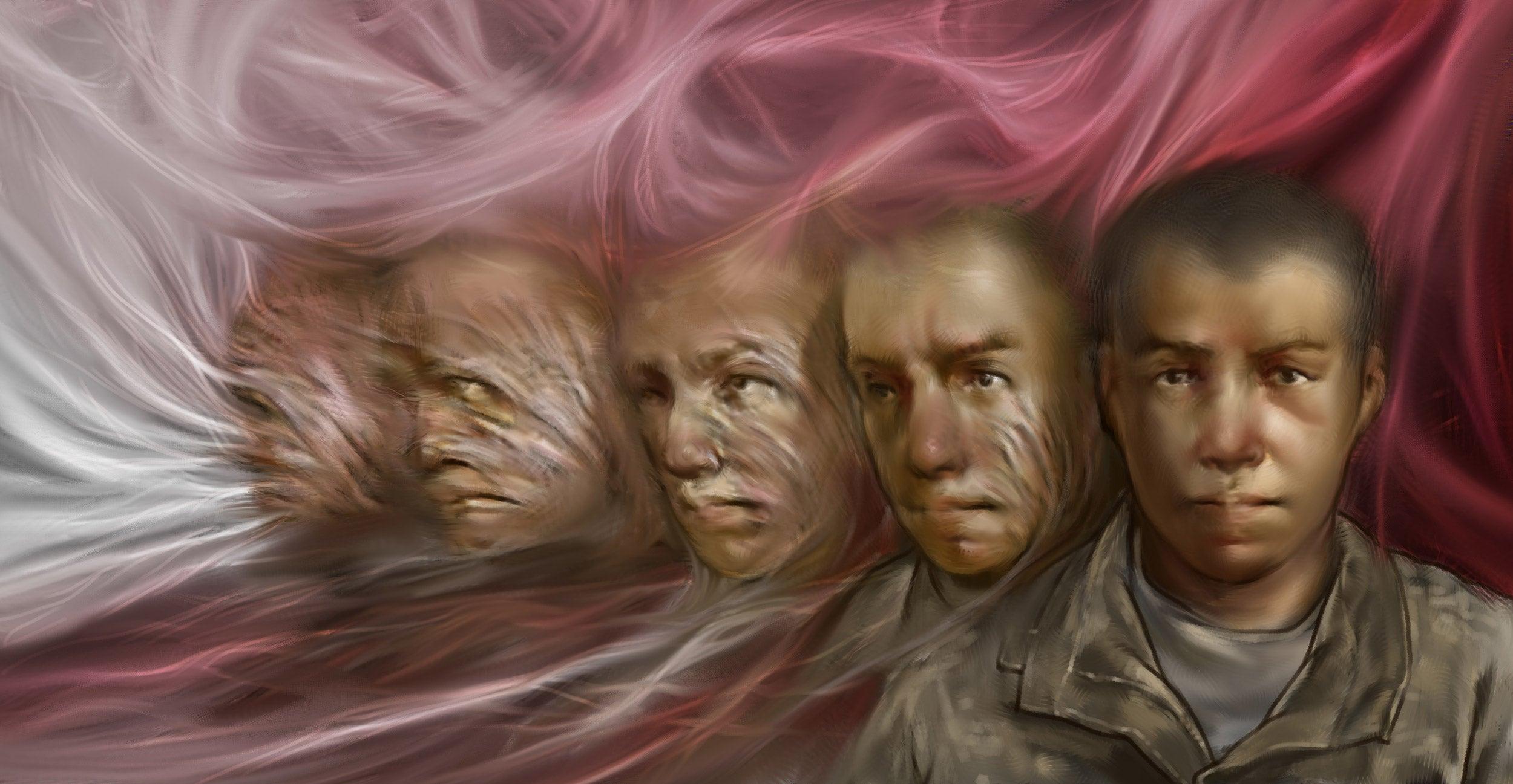 Illustration of face healing