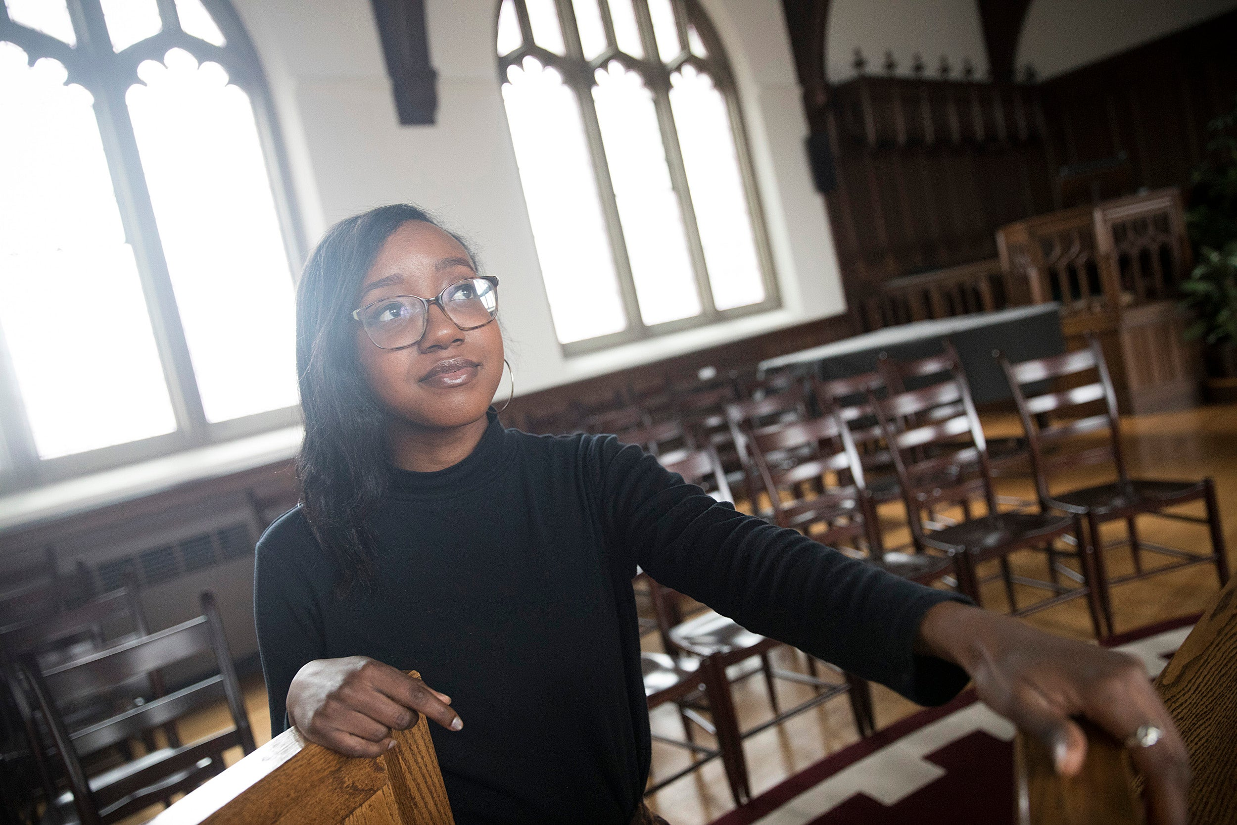 Nicole Powell originally planned to go into journalism, but an internship with the Children's Defense Fund Freedom Schools showed her new ways to effect change and brought her to Harvard Divinity School.