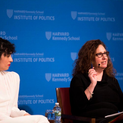 A panel of journalists who cover the #MeToo movement, including Koa Beck (left) and Dahlia Lithwick, discussed the seismic impact the movement has had on the wider culture and what comes next.