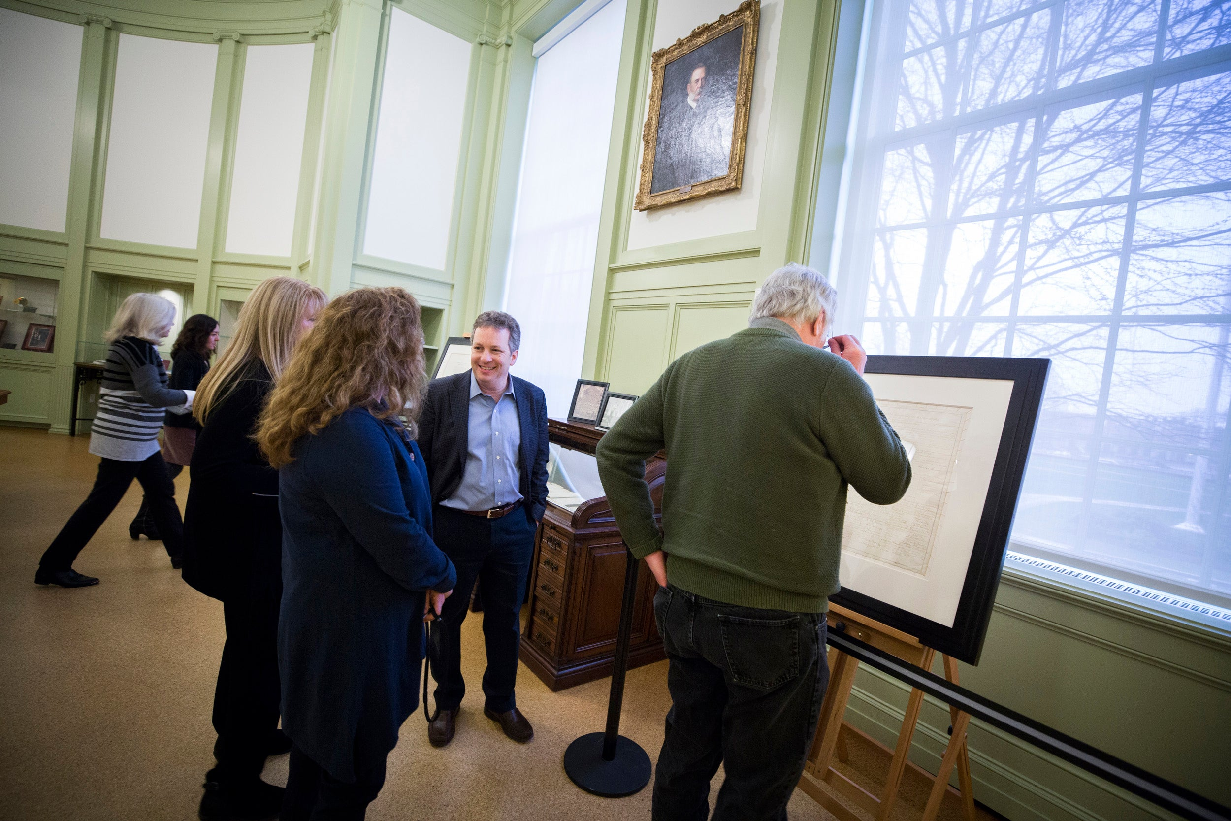 The Emancipation Proclamation was briefly on campus last week for a Baker Library exhibit.