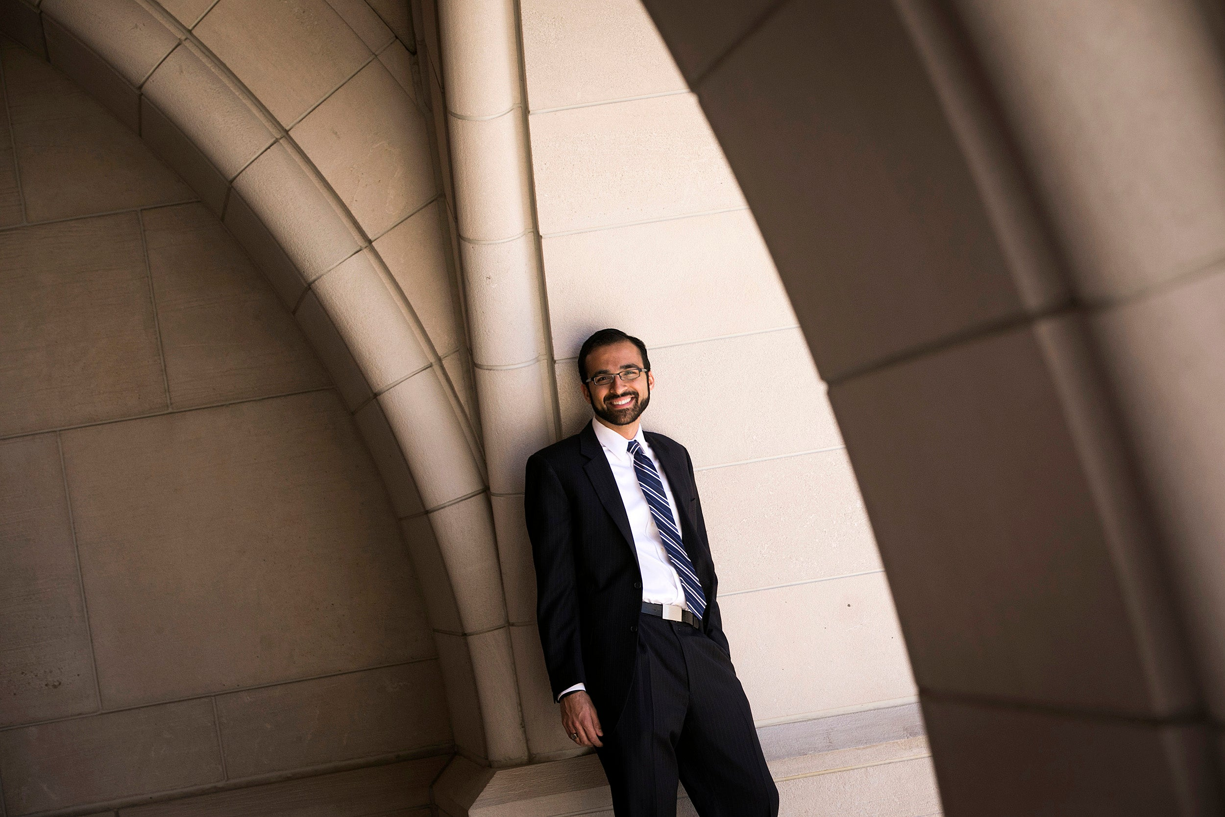"""""""The responsibility of privilege is to pay it forward,"""" says Law School grad Raj Salhotra, who launched a program to provide mentors to help underserved high school students find path to college."""