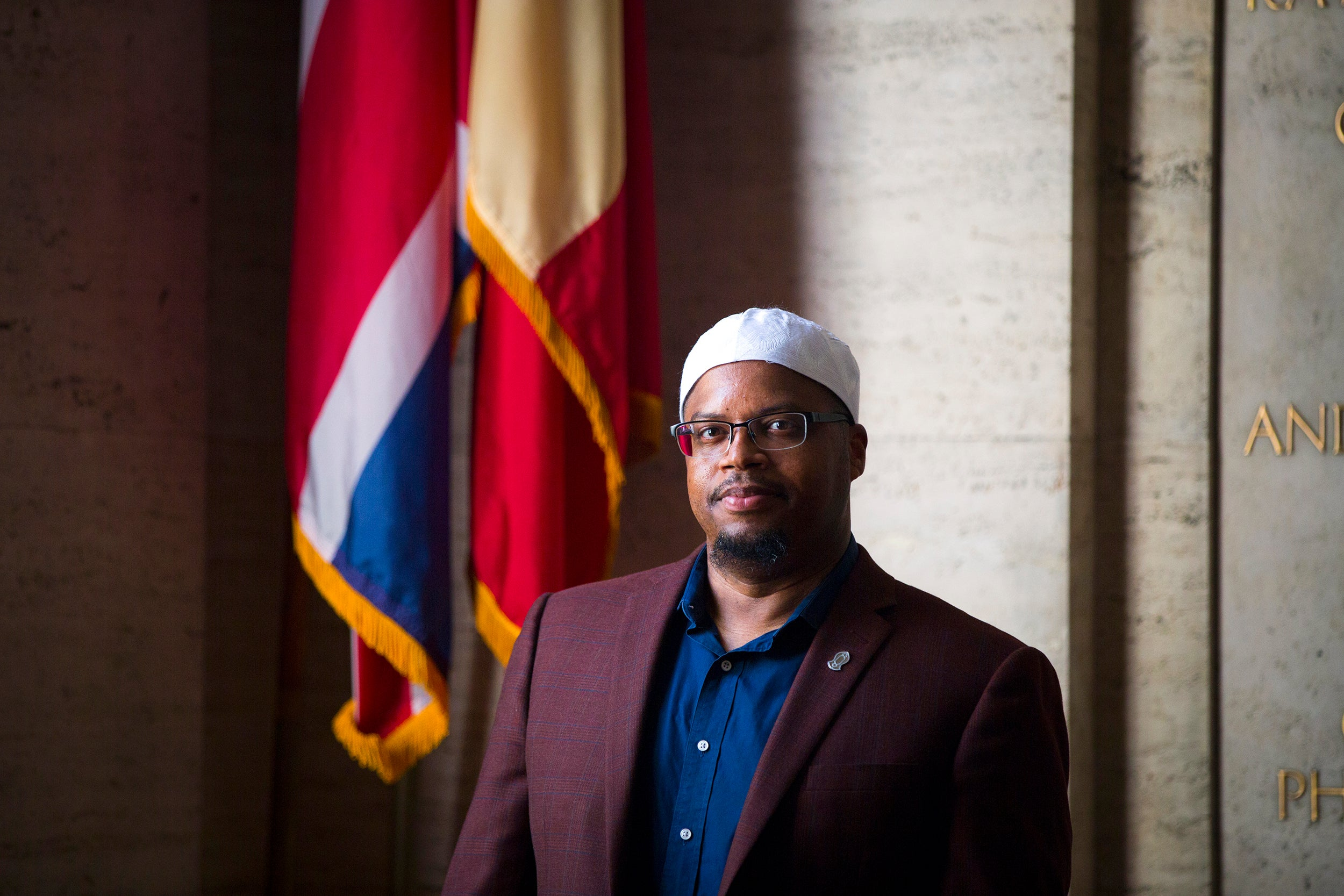 """How do you treat people, and how do you advocate for good treatment?"" Khalil Abdur-Rashid, Harvard's first full-time Muslim chaplain, says he seeks to help students ""understand Islam as a lived experience."""