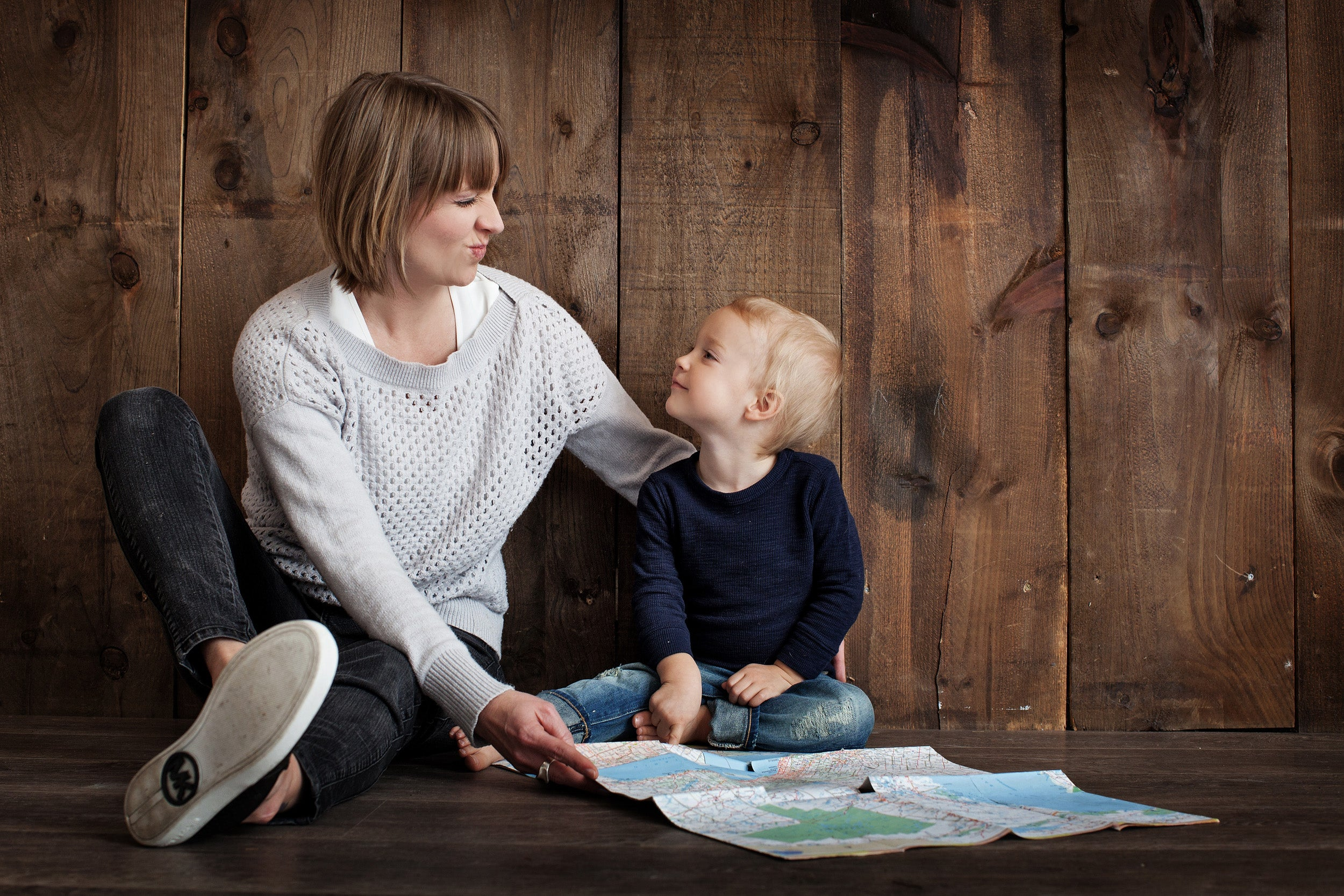 Parent and child.
