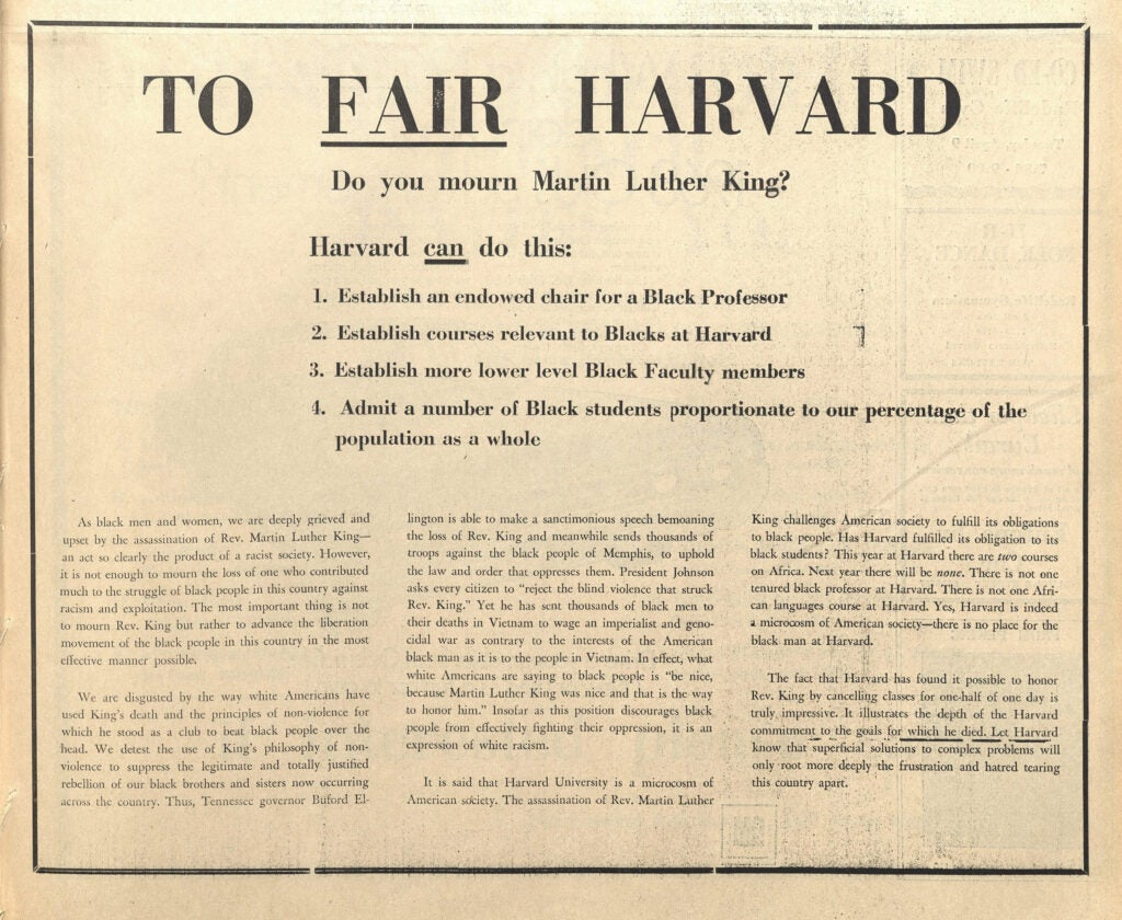 At Harvard A Revolution 50 Years In The Making Harvard Gazette