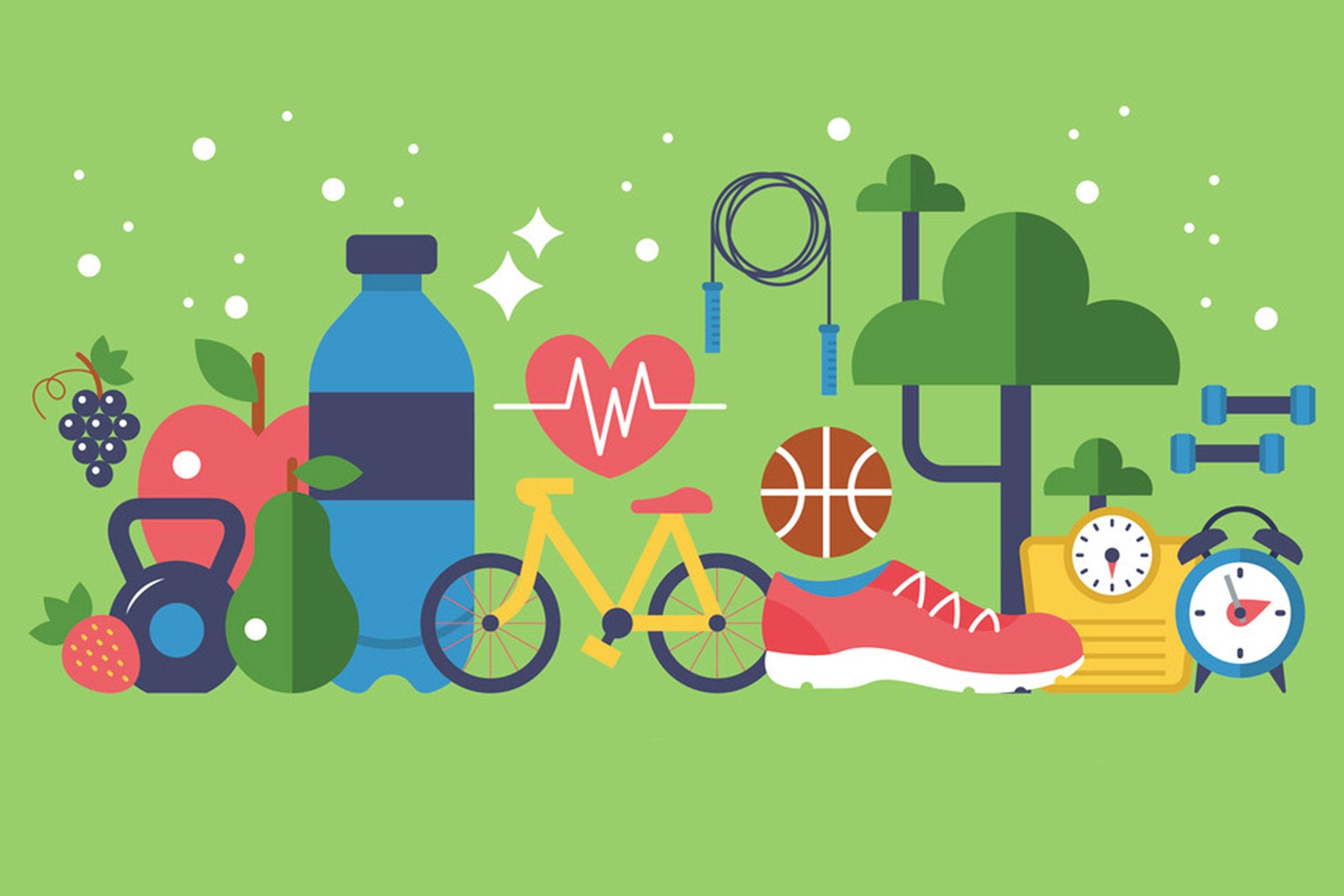 health habits illustration