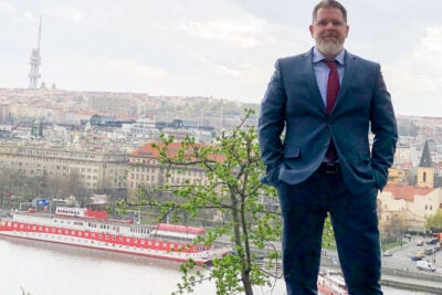 There were many twists and turns before Oren Varnai, graduating from the Harvard Chan School's mid-career master of public health program, landed in Prague as a Foreign Service officer at the U.S. Embassy.