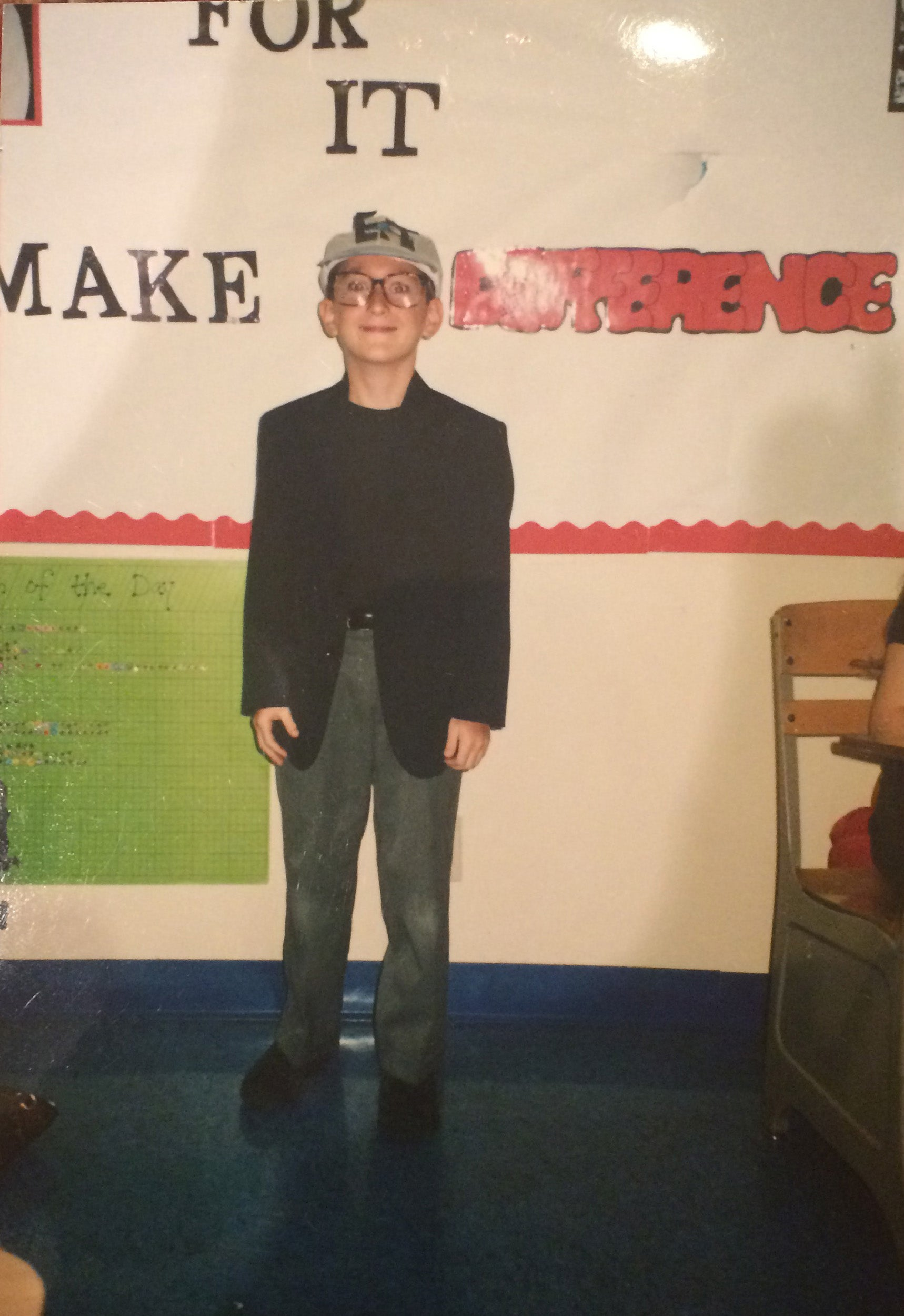 Lance Oppenheim dressed up as Steven Spielberg for Halloween in the fourth grade.