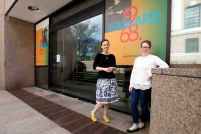 Juliana Kuipers, on right and Emily Atkins are the curators of a new