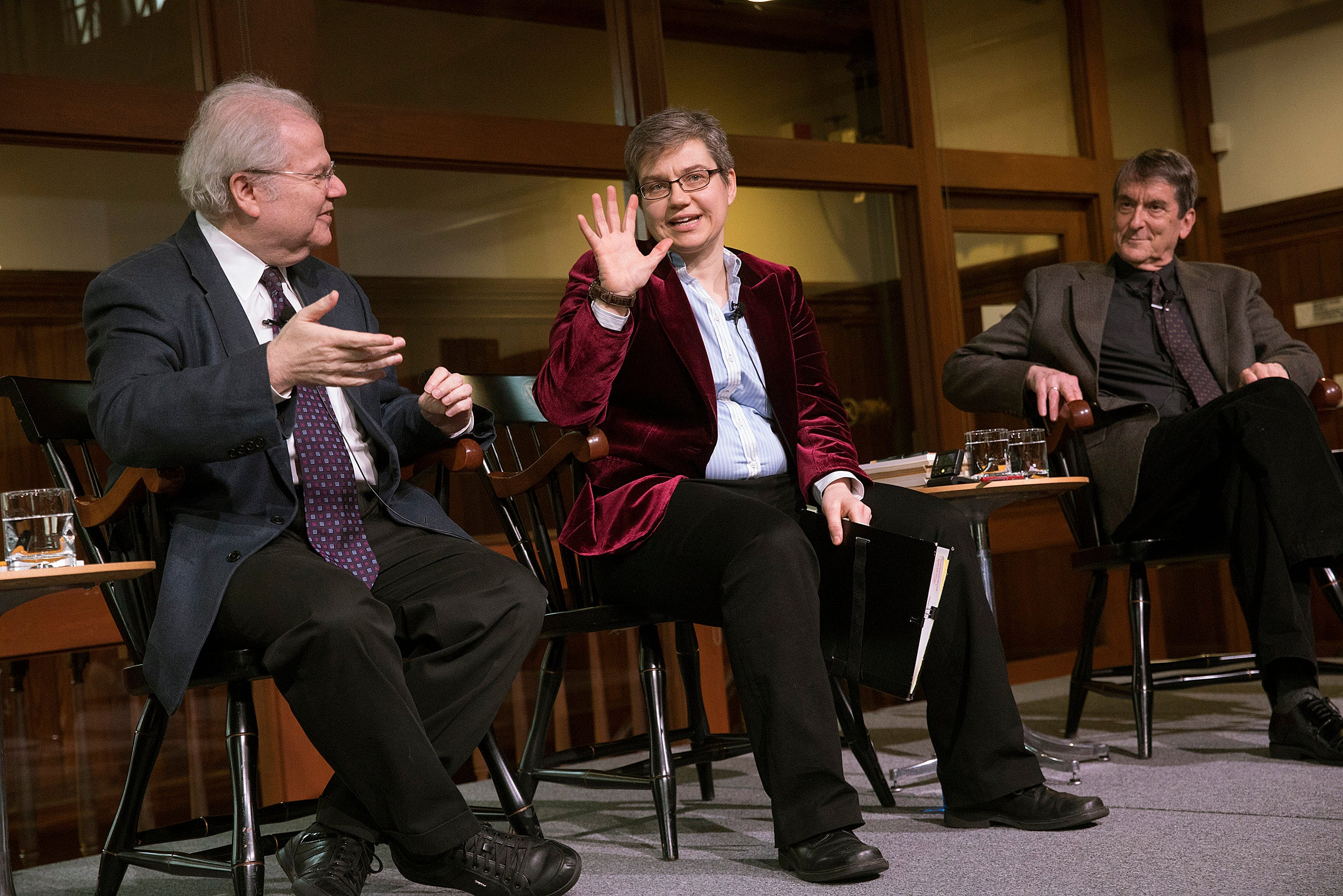 pianist Emanuel Ax visited Harvard to discuss the influence