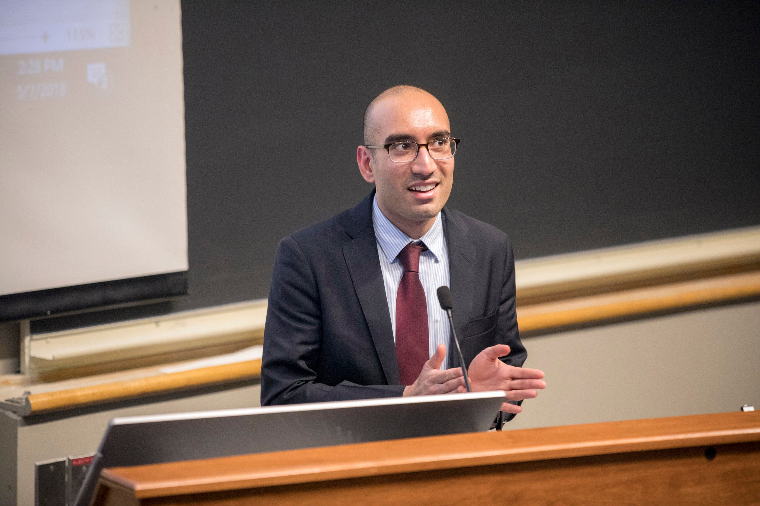 At a panel discussion at the Medical School, members of Students for Environmental Awareness in Medicine, including event planner Shadaab Kazi, gave the physicians' perspective on how environmental issues will impact human health.
