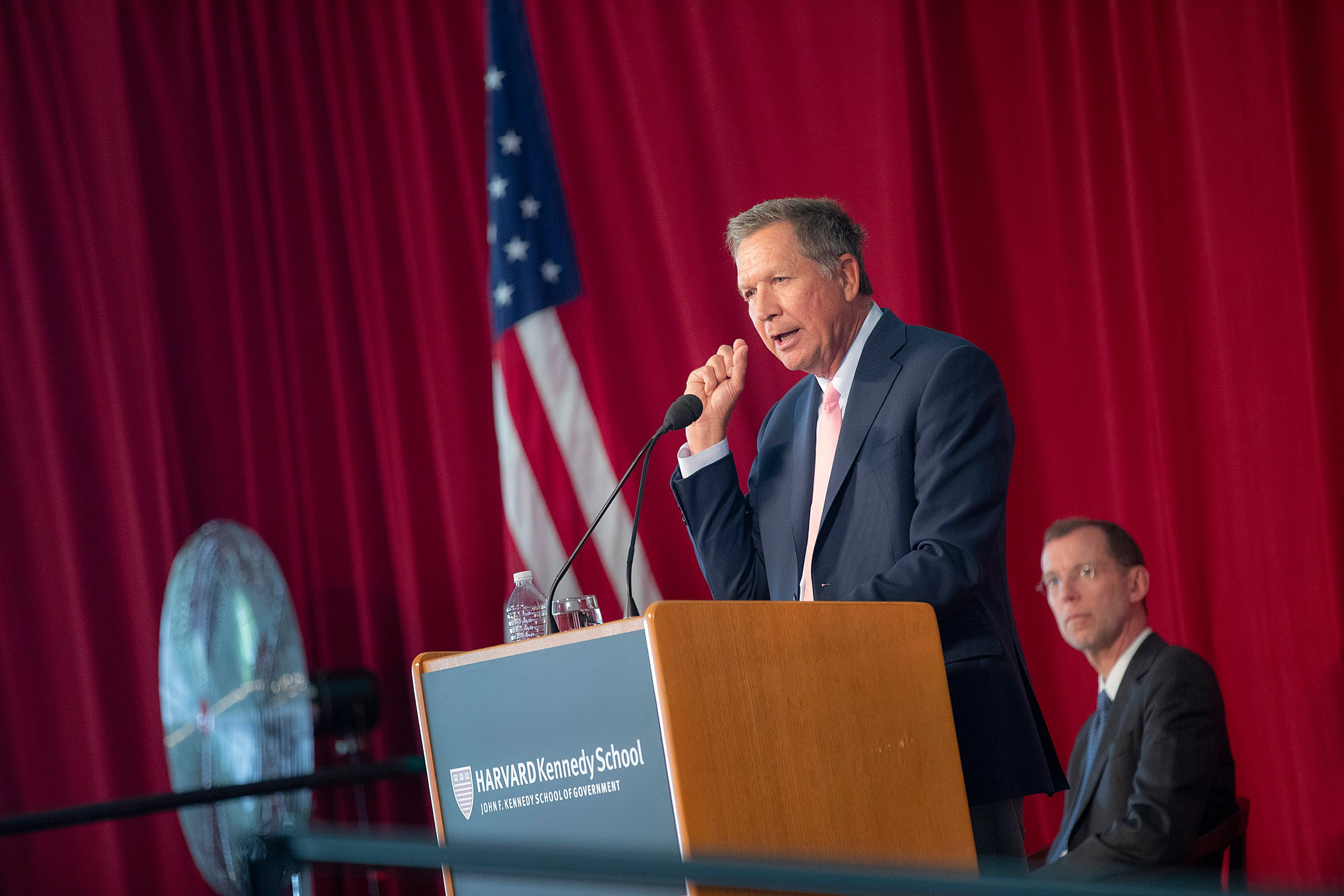 """[M]illennials are in search of more meaning, in trying to make a big difference in the way the world works,"" said Ohio Gov. John Kasich in his address to HKS graduates. ""You can change the way the world turns on its axis. You can, you will, and you must."""