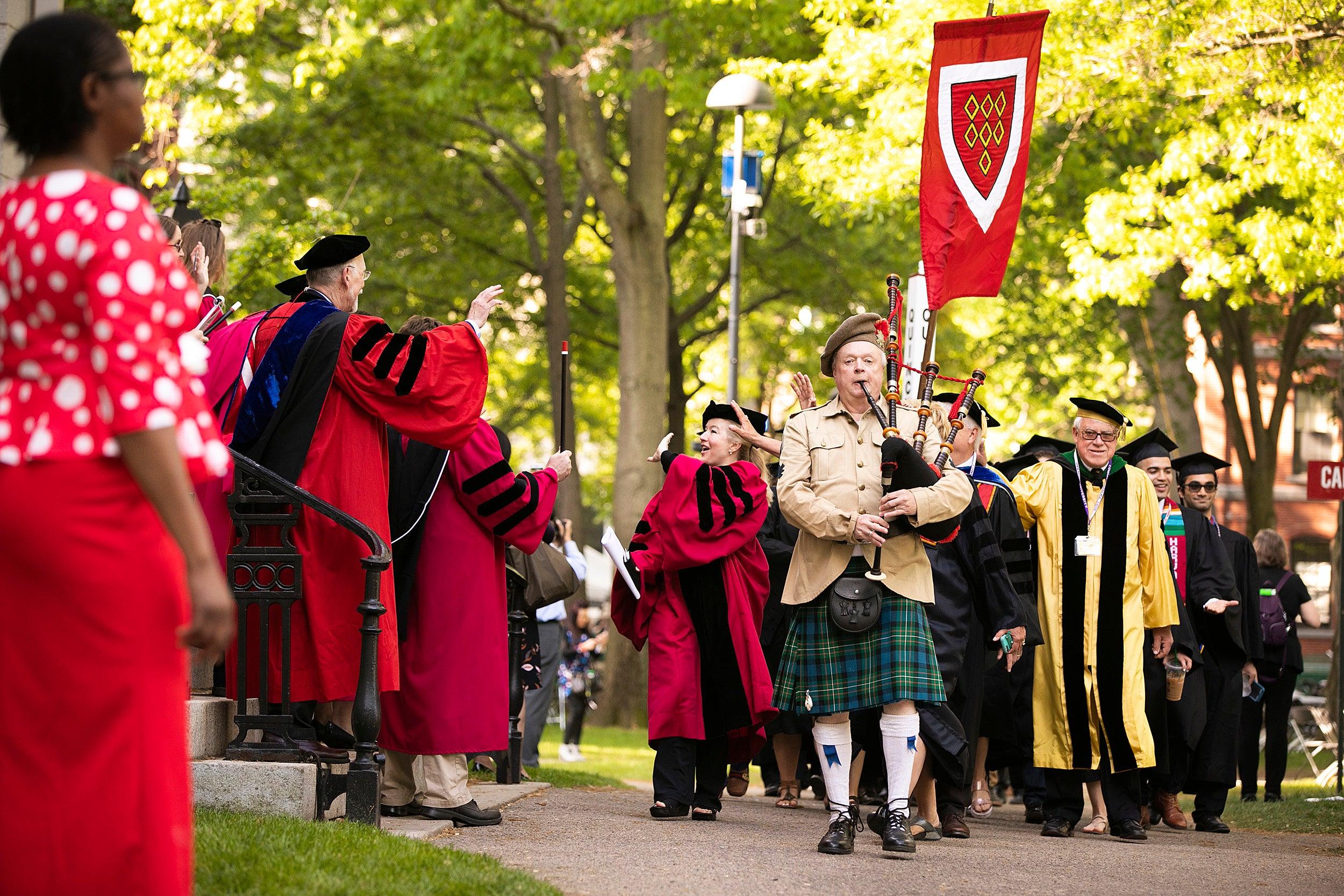 Harvard commencement.