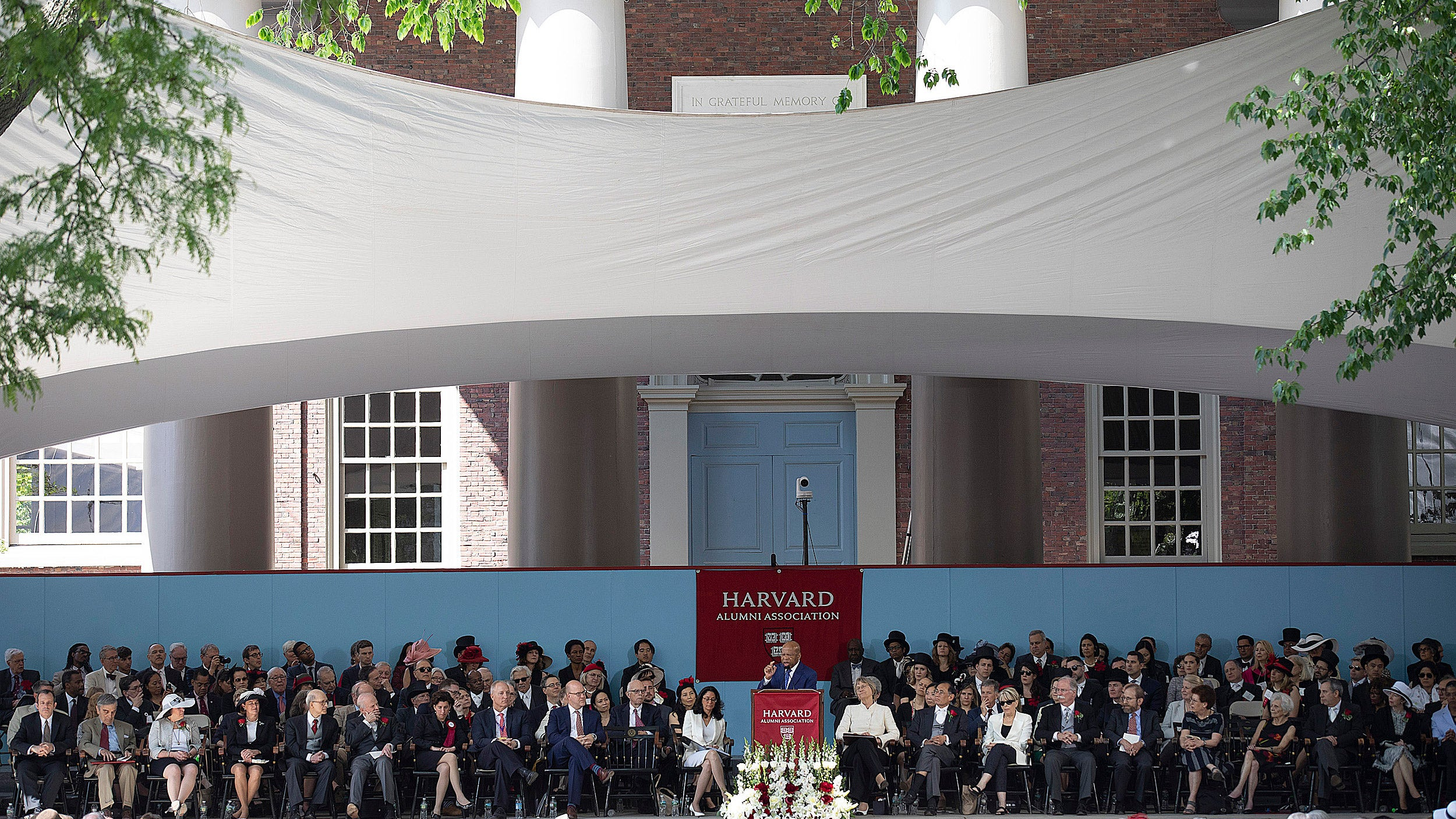 John Lewis speaks to Harvard graduates.