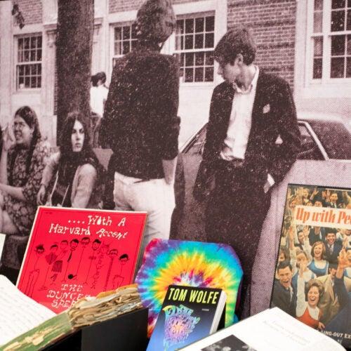 """Case from """"Harvard, 1968"""" exhibit."""