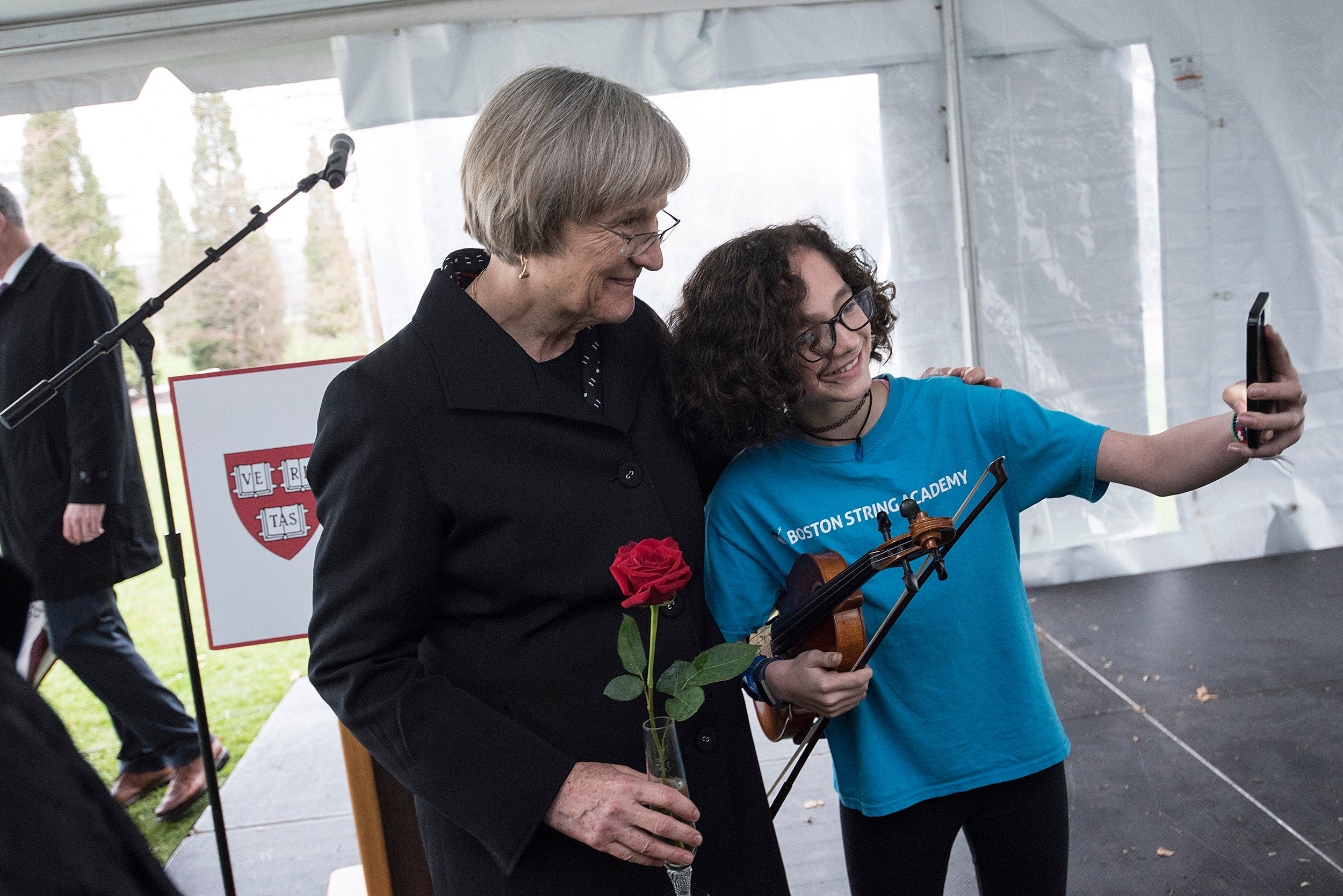 Ana Isabel Cardona and Drew Faust