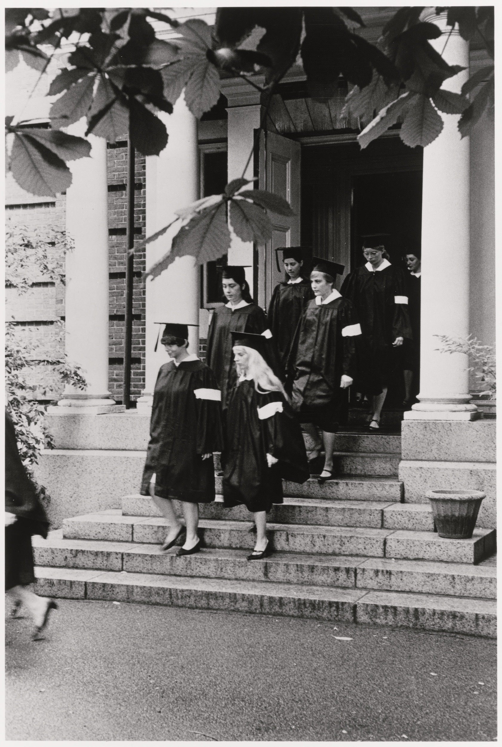 Radcliffe grads wear white armbands in 1968.