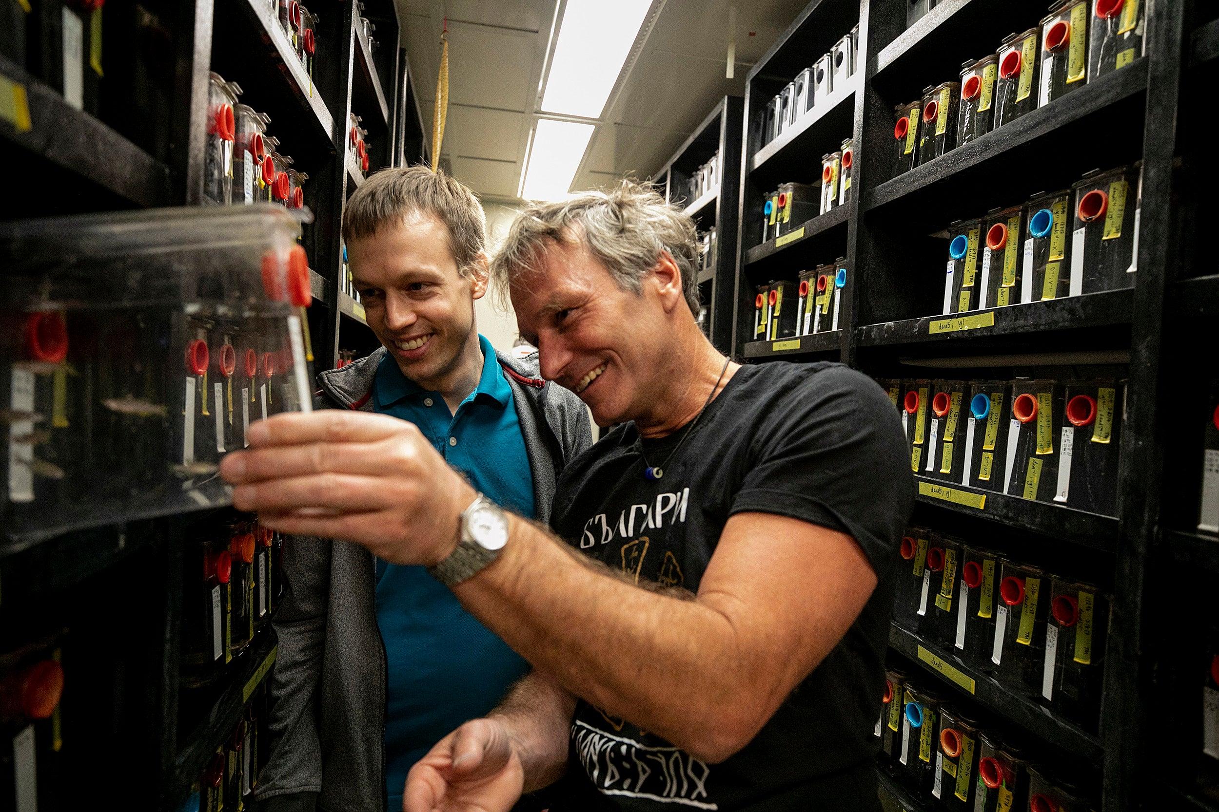 Martin Haesemeyer, on left, and Florian Engerts