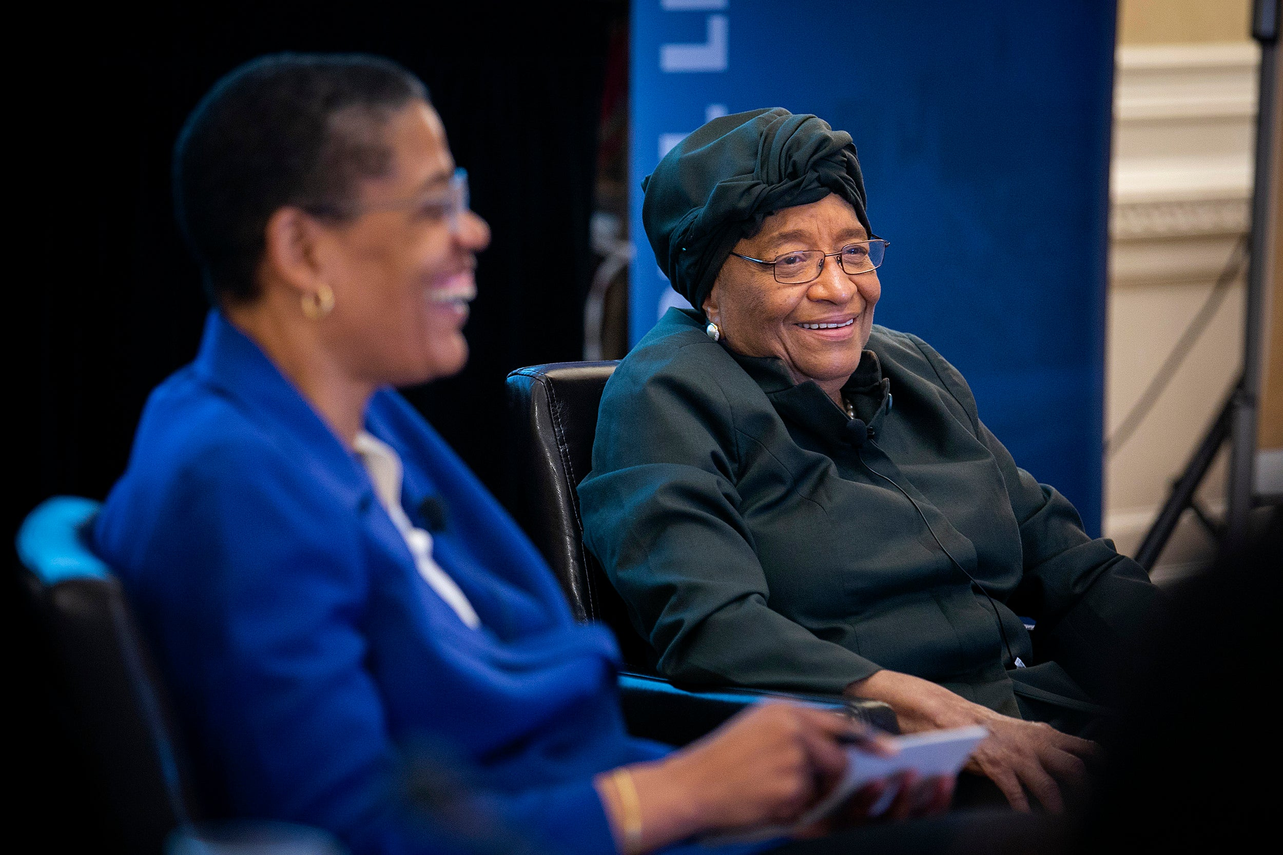 Michelle Williams and Ellen Johnson Sirleaf.