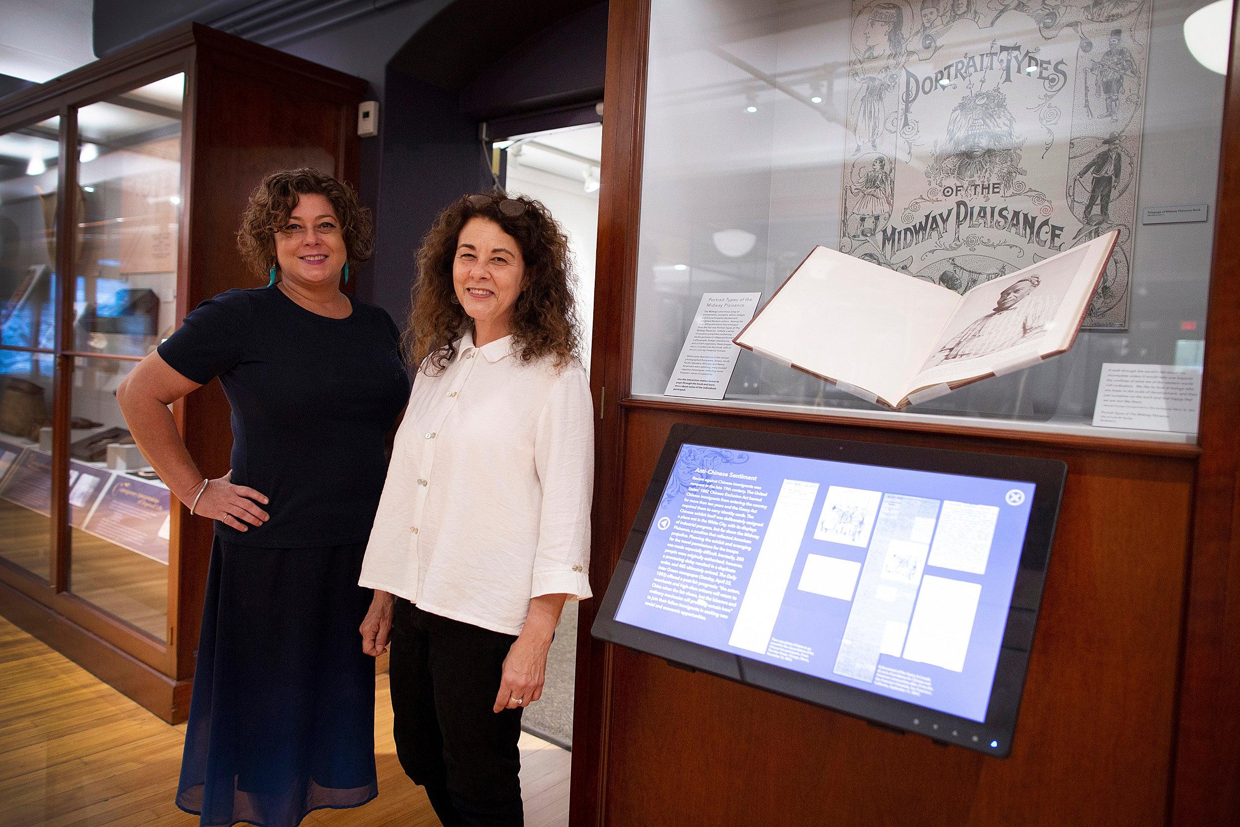 Curators Diana Loren and Lisa Barbash.