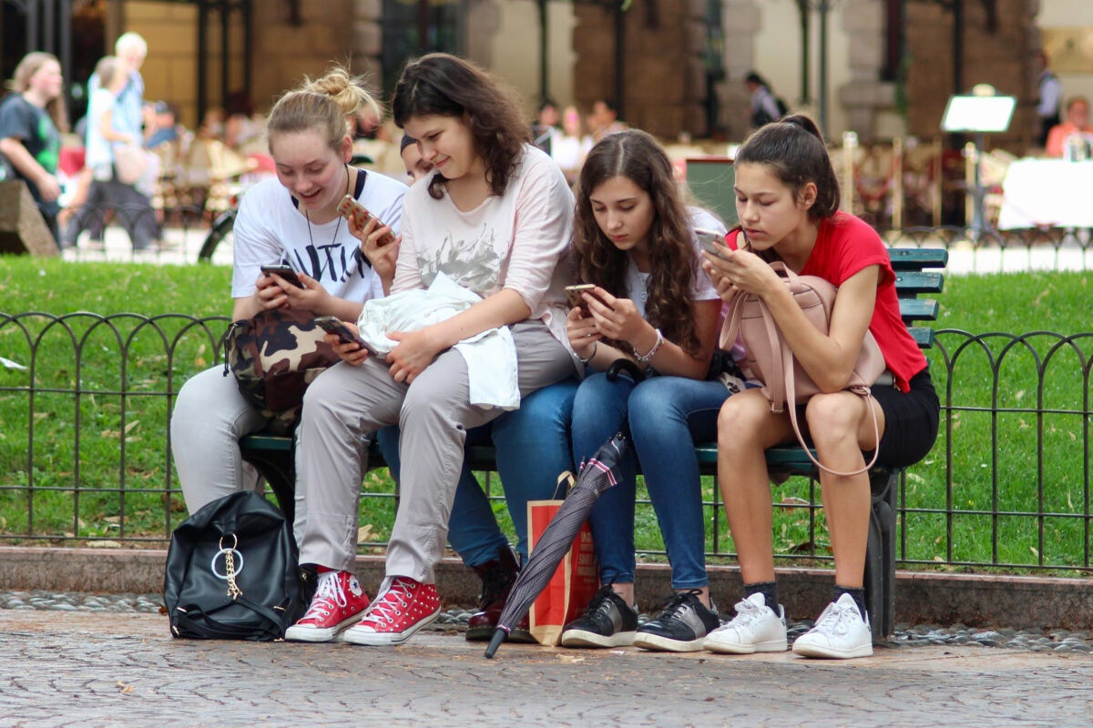 Teens on smartphones
