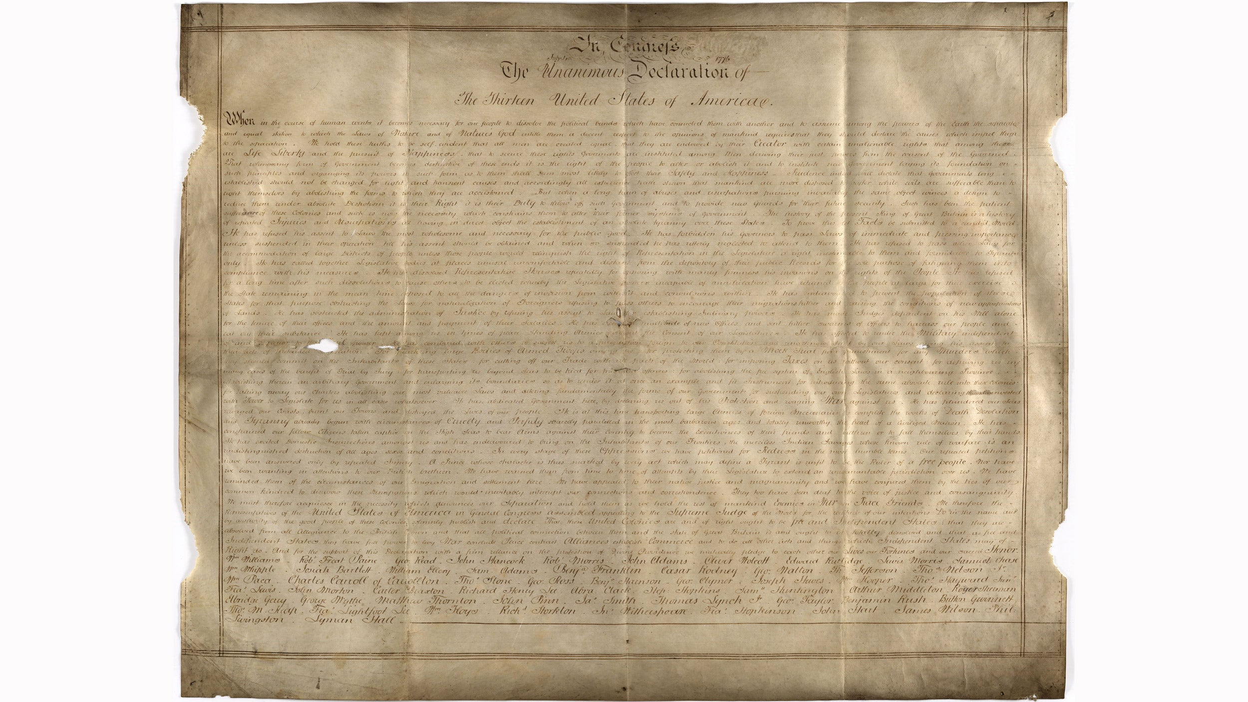 The Sussex Declaration.