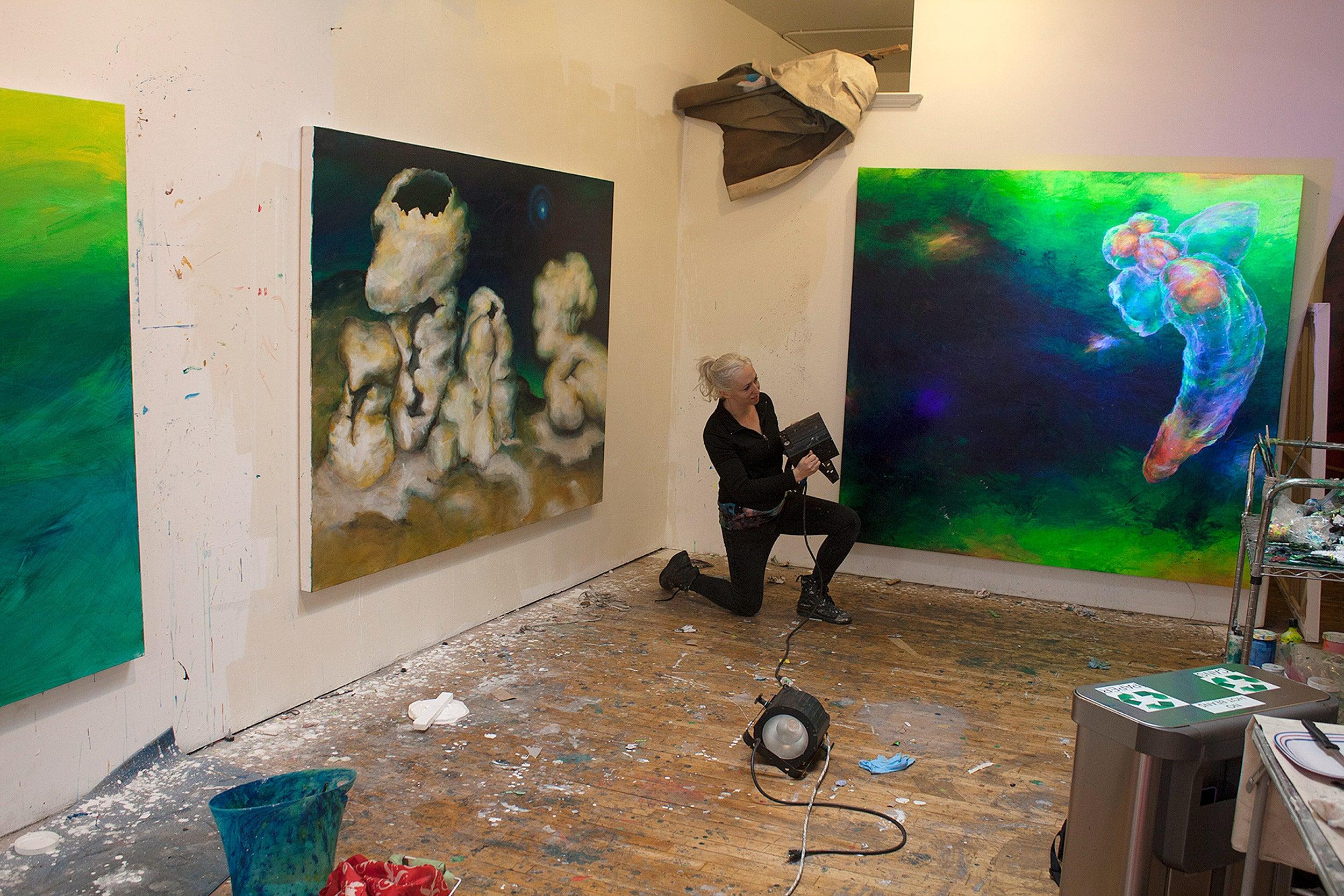 Lily Simonson in her studio.