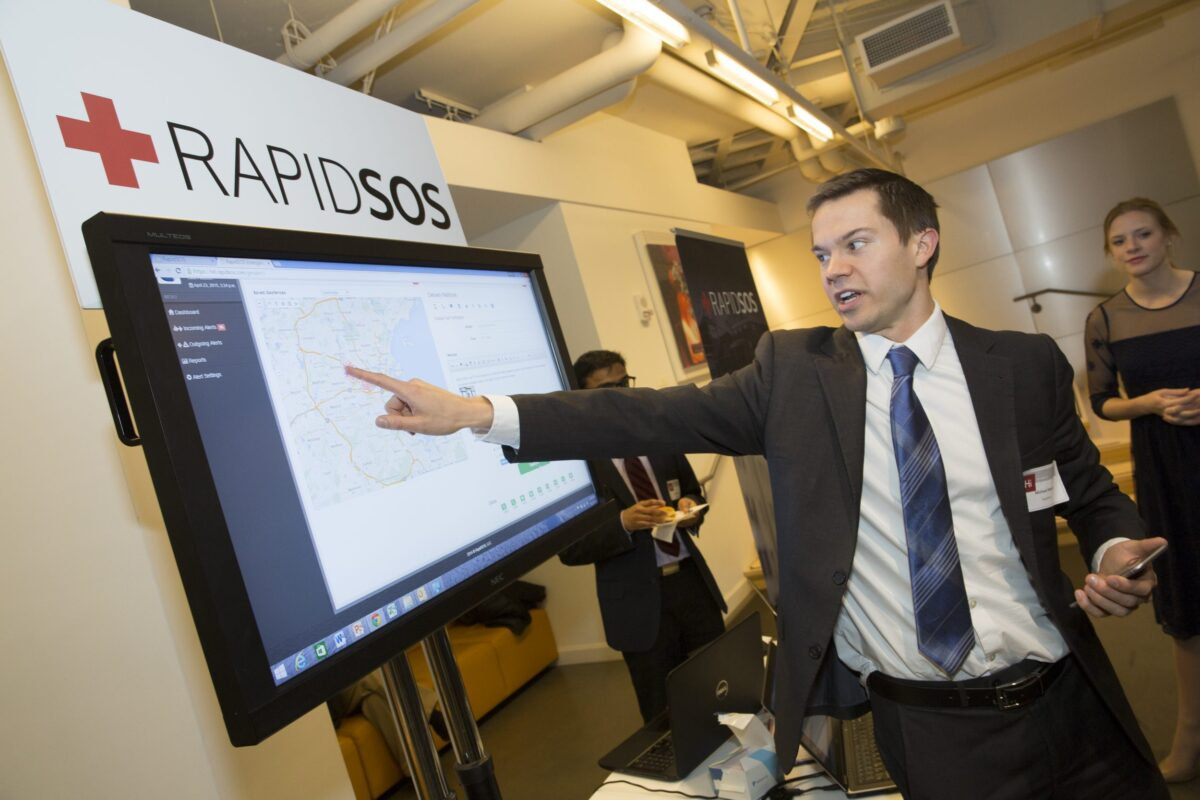 After his app, RapidSOS, won the 2015 President's Innovation Challenge, Michael Martin, M.B.A. '15, took his life-saving app to Apple, which has integrated RapidSOS into the iPhone's emergency location system.