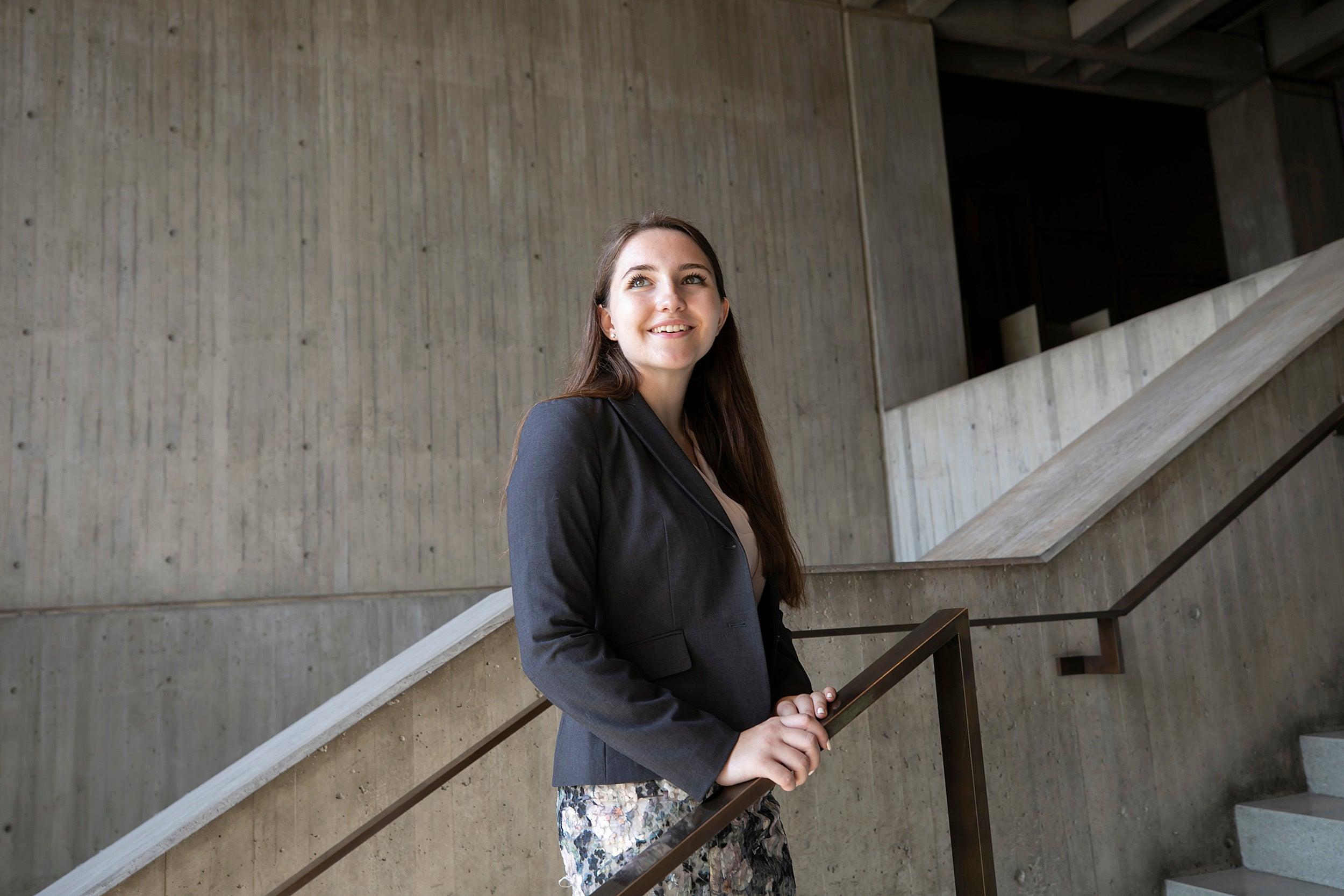 Harvard University graduate, Lexi Smith, '18 is the third Harvard Presidential City of Boston Fellow. She works in Boston at City Hall.