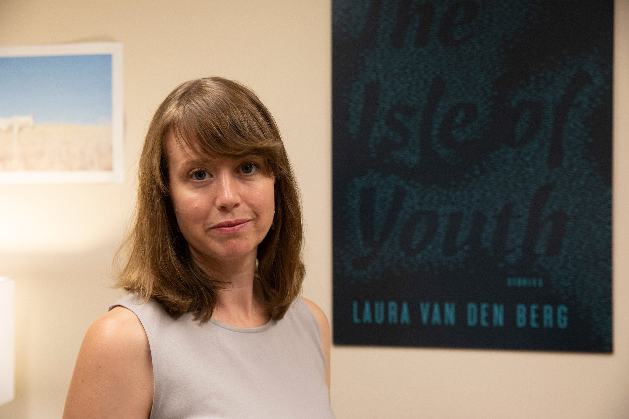"""Fiction writer Laura van den Berg, a Briggs-Copeland Lecturer in Harvard's Creative Writing Program, discusses horror movies and her new novel, """"The Third Hotel."""""""