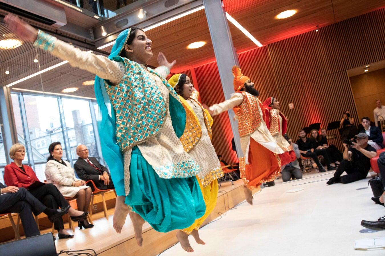 Harvard Bhangra dancers.