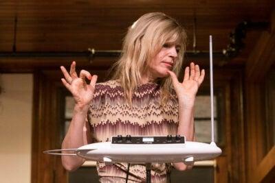 Dorit Chrysler plays the theremin.