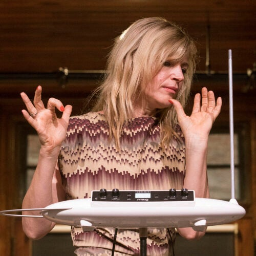 Dorit Chrysler plays the theremin.